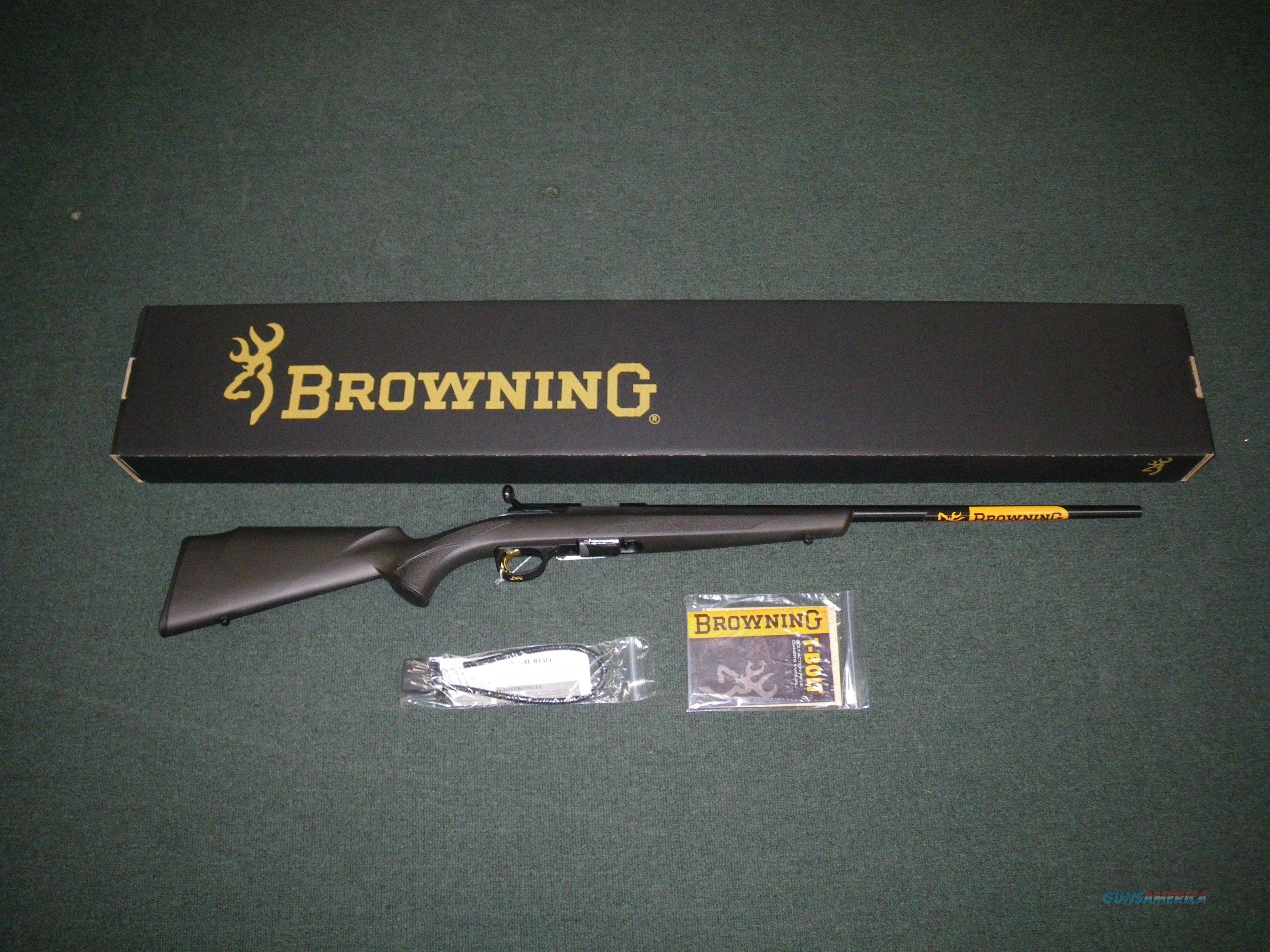"""Browning T-Bolt Composite 22lr 22"""" New #025179202  Guns > Rifles > Browning Rifles > Bolt Action > Hunting > Blue"""