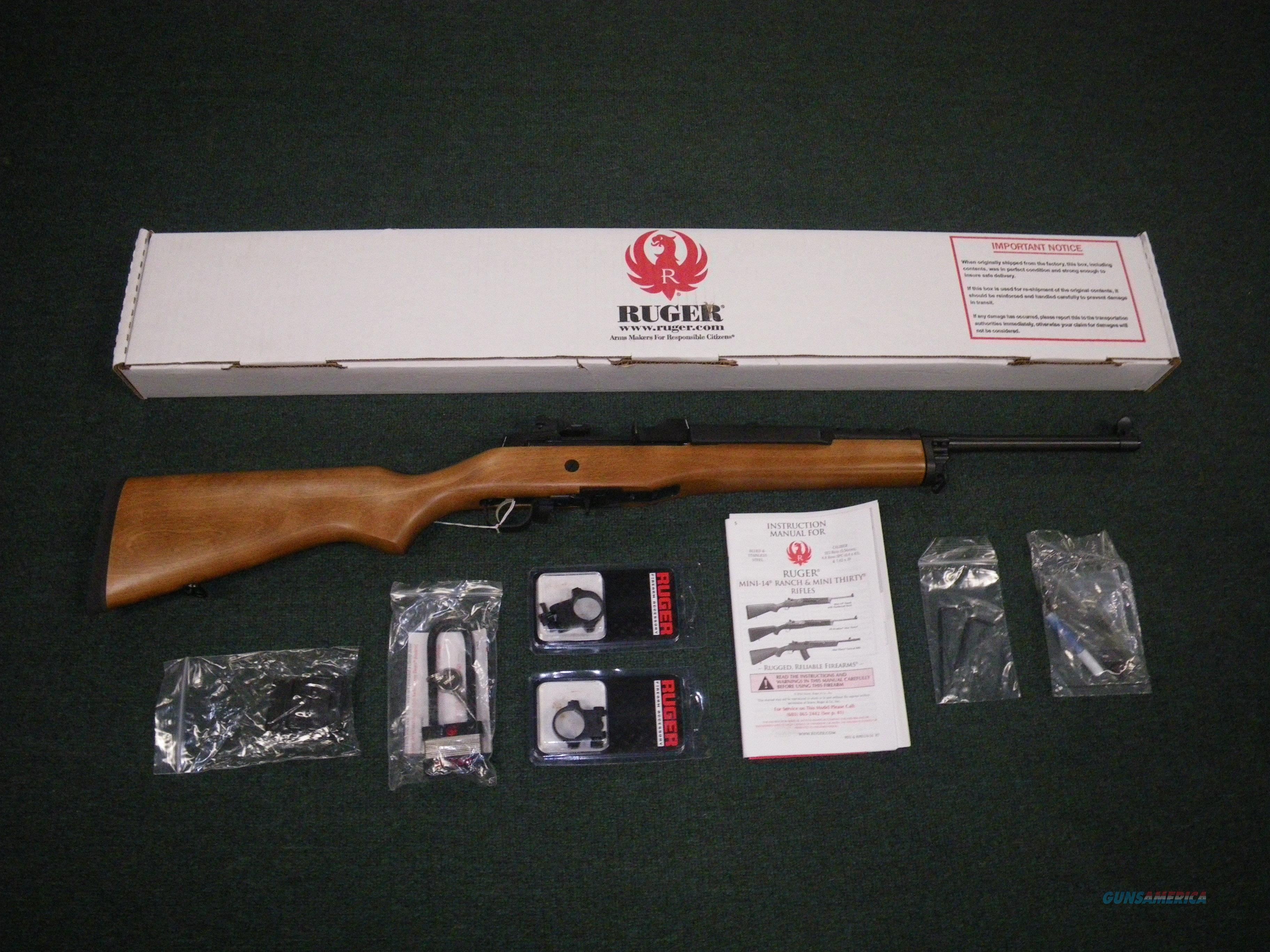 "Ruger Mini-14 Ranch Rifle 5.56/223 Rem 18.5"" NEW #5801  Guns > Rifles > Ruger Rifles > Mini-14 Type"