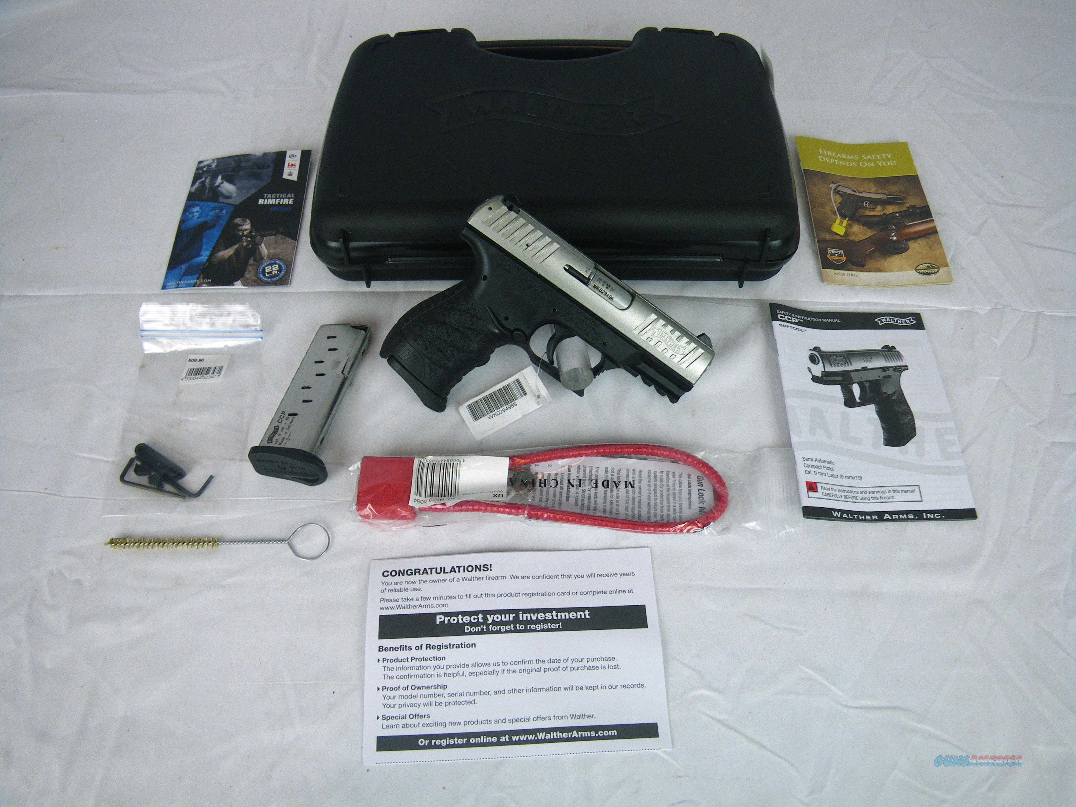 "Walther CCP 9mm 3.54"" Stainless 8 rnd NEW #5080301  Guns > Pistols > Walther Pistols > Post WWII > CCP"