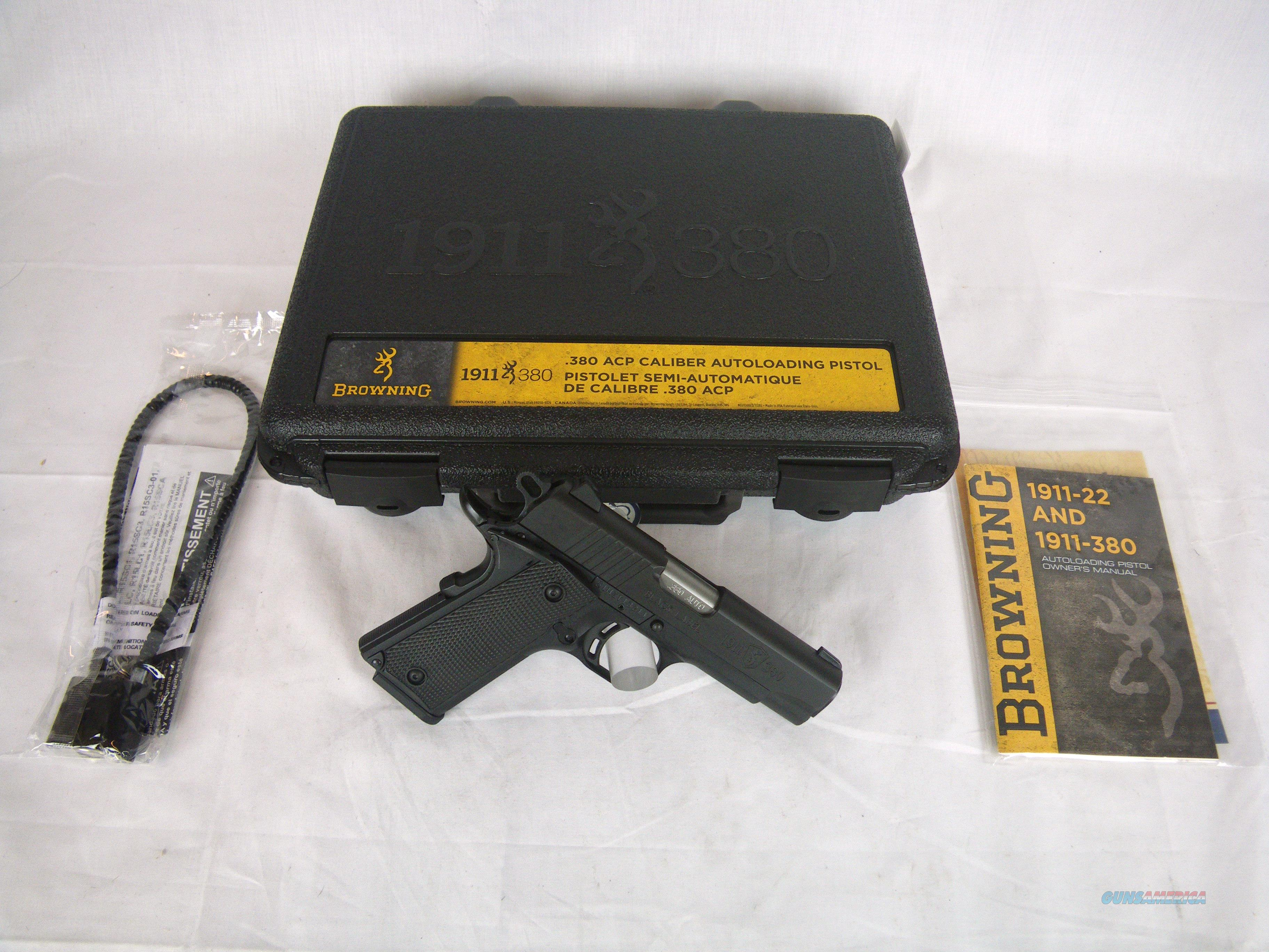 Browning 1911-380 Black Label Compact 380 ACP NEW #051905492  Guns > Pistols > Browning Pistols > Other Autos
