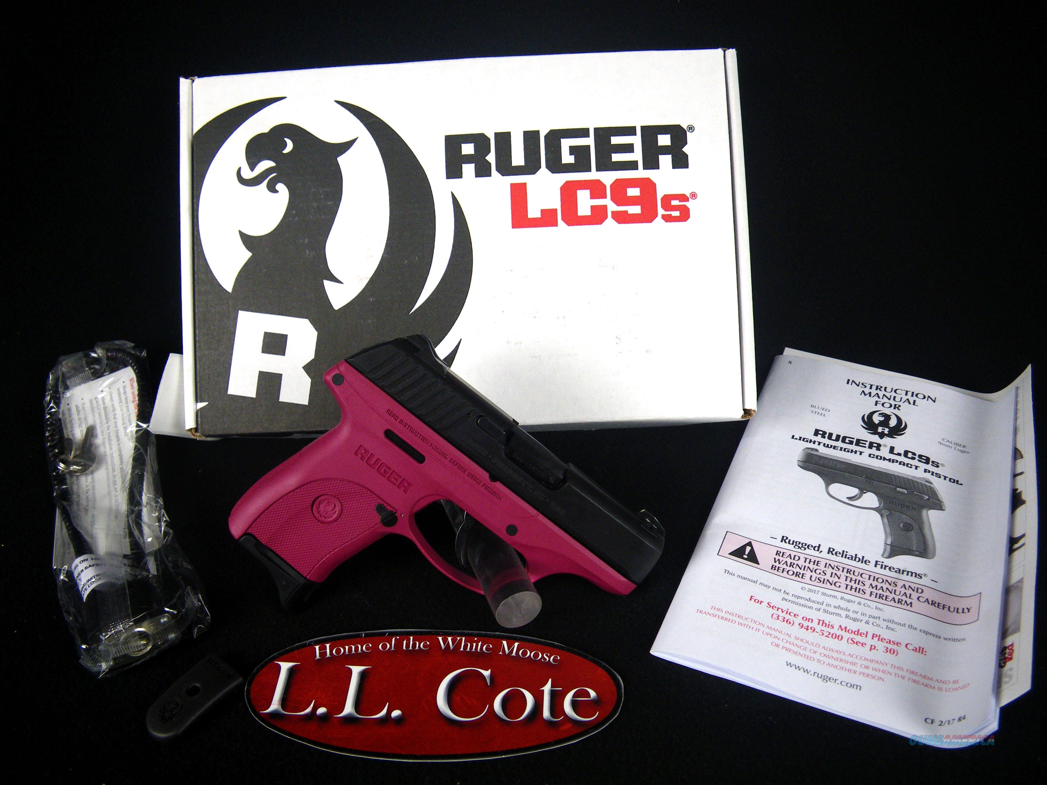 """Ruger LC9s Raspberry 9mm 3.12"""" NEW 7rnd 3249  Guns > Pistols > Ruger Semi-Auto Pistols > LC9"""