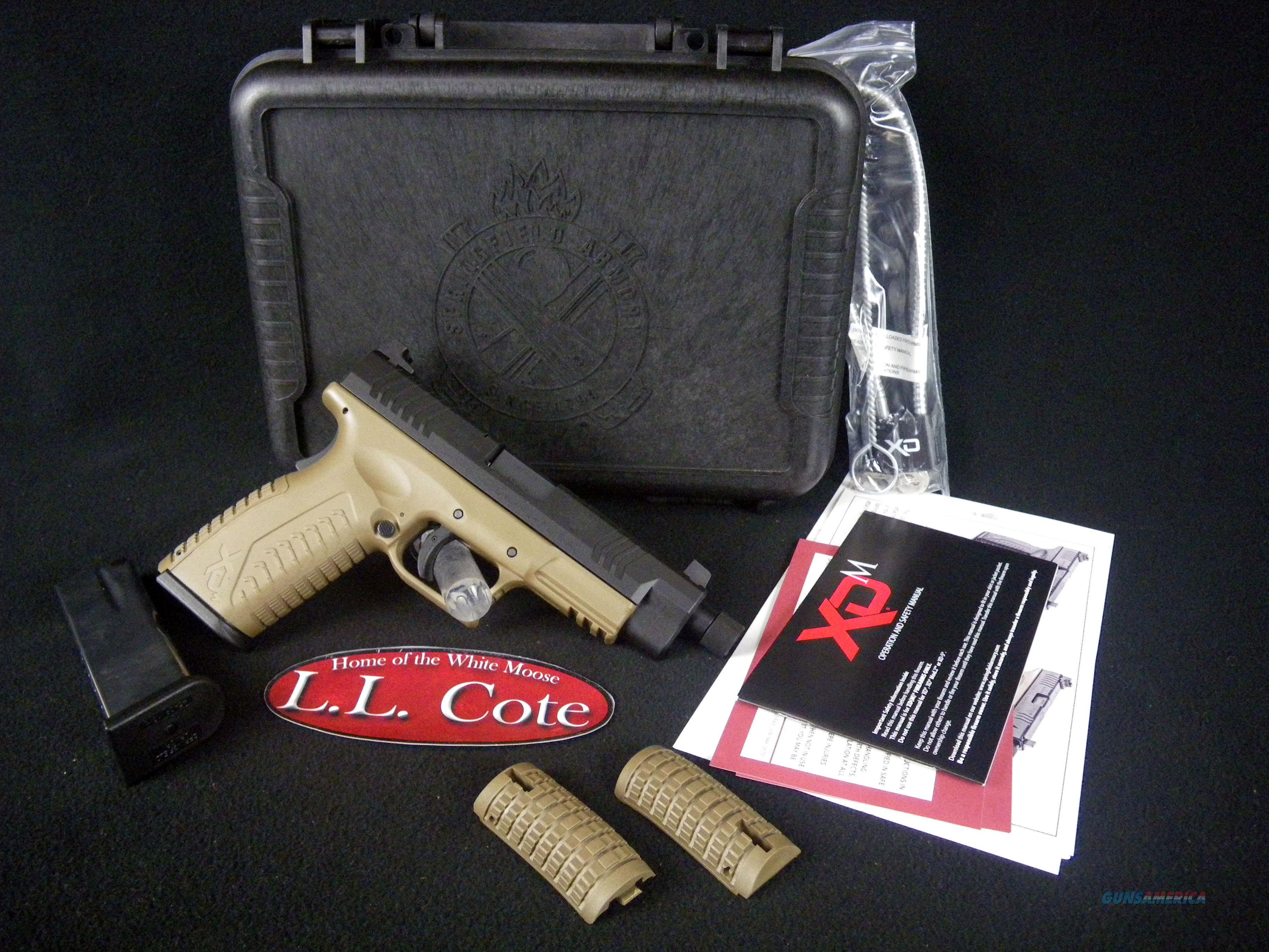 "Springfield XDM FDE 45ACP 5.34"" Threaded NEW XDMT94545FDEHCE  Guns > Pistols > Springfield Armory Pistols > XD-M"