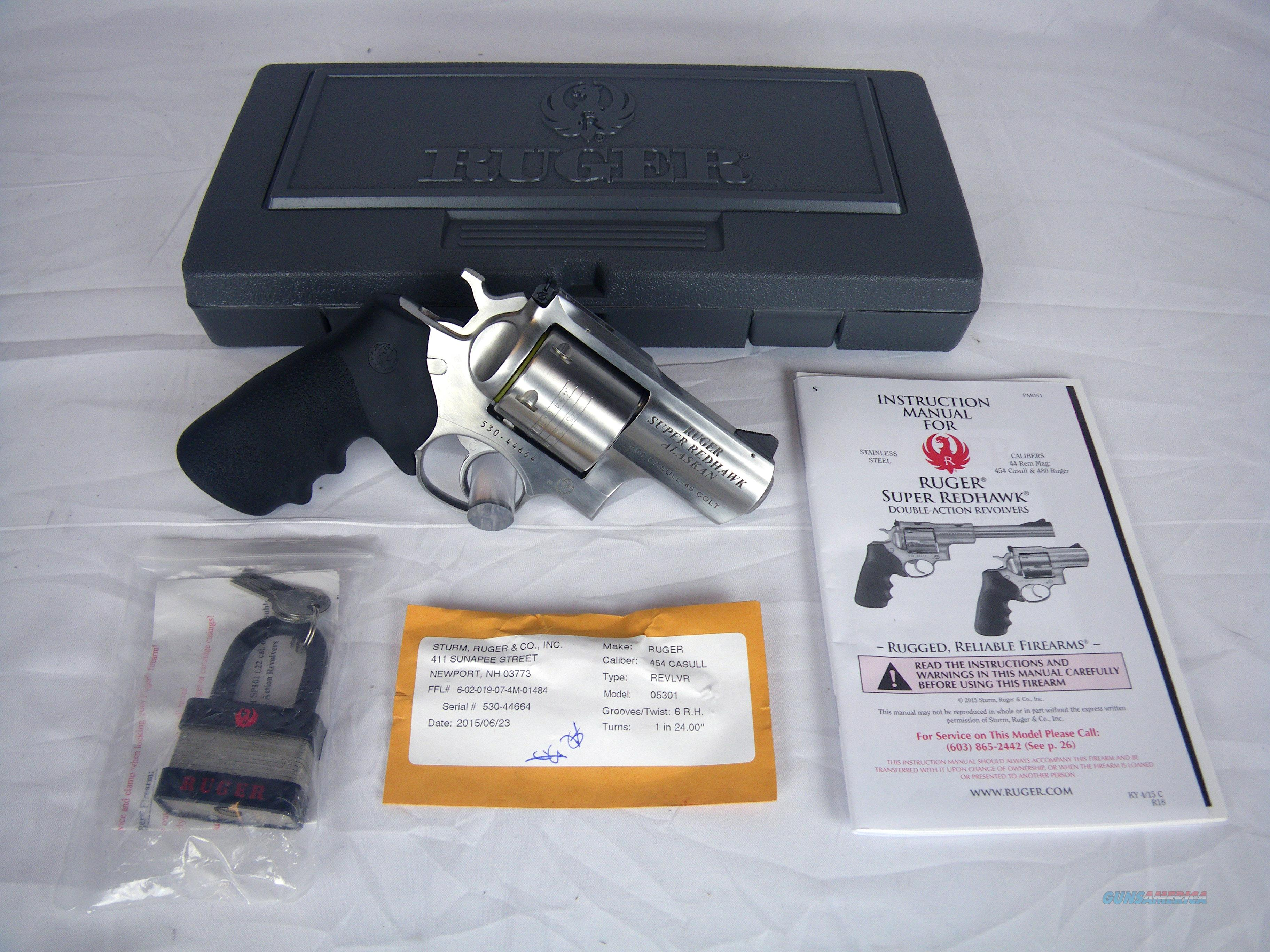 "Ruger Super Redhawk Alaskan 454 Casull/45 Colt 2.5"" #5301  Guns > Pistols > Ruger Double Action Revolver > Redhawk Type"