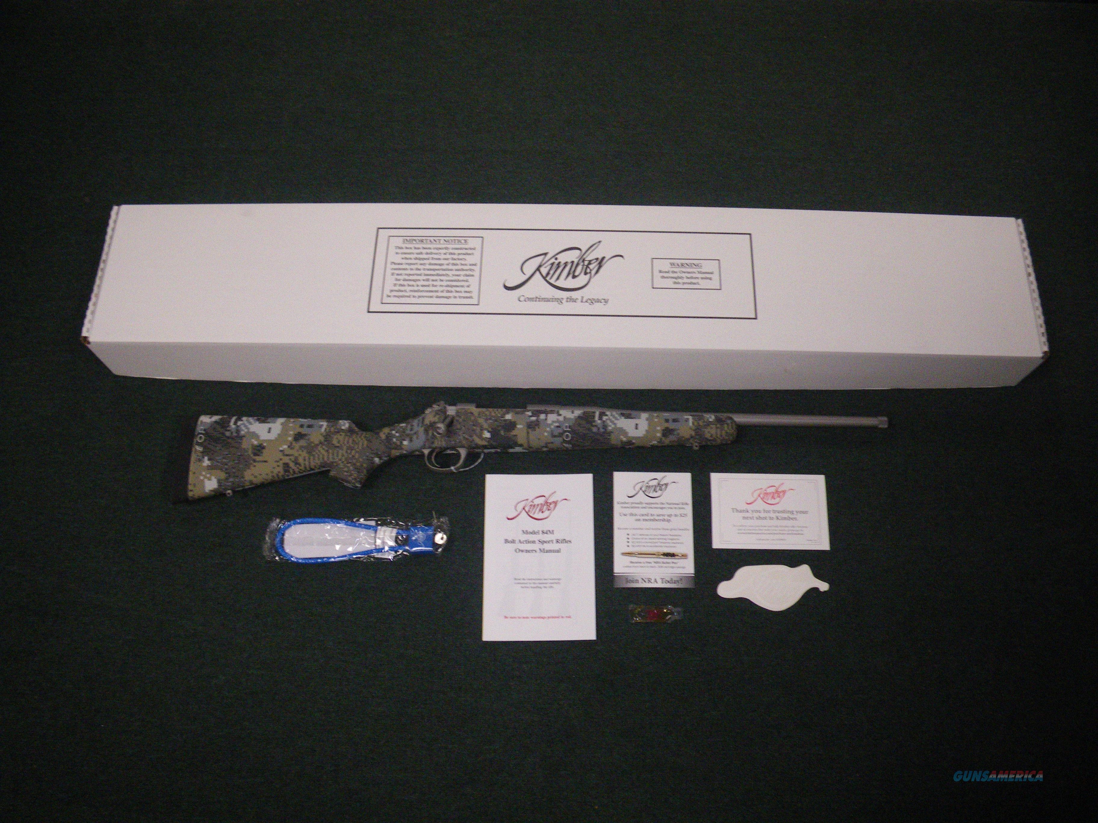 """Kimber 84M Adirondack 308 Win 18"""" Threaded NEW #3000816  Guns > Rifles > Kimber of America Rifles"""