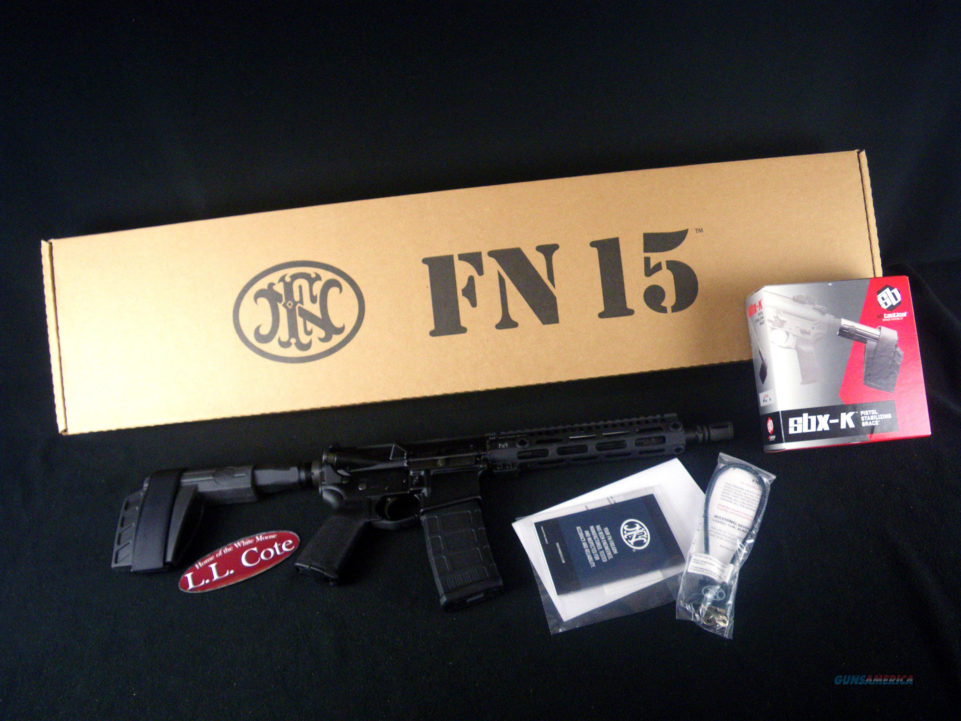 "FNH FN-15 Pistol 5.56mm NATO 10.5"" NEW 36322  Guns > Pistols > FNH - Fabrique Nationale (FN) Pistols > FNS"
