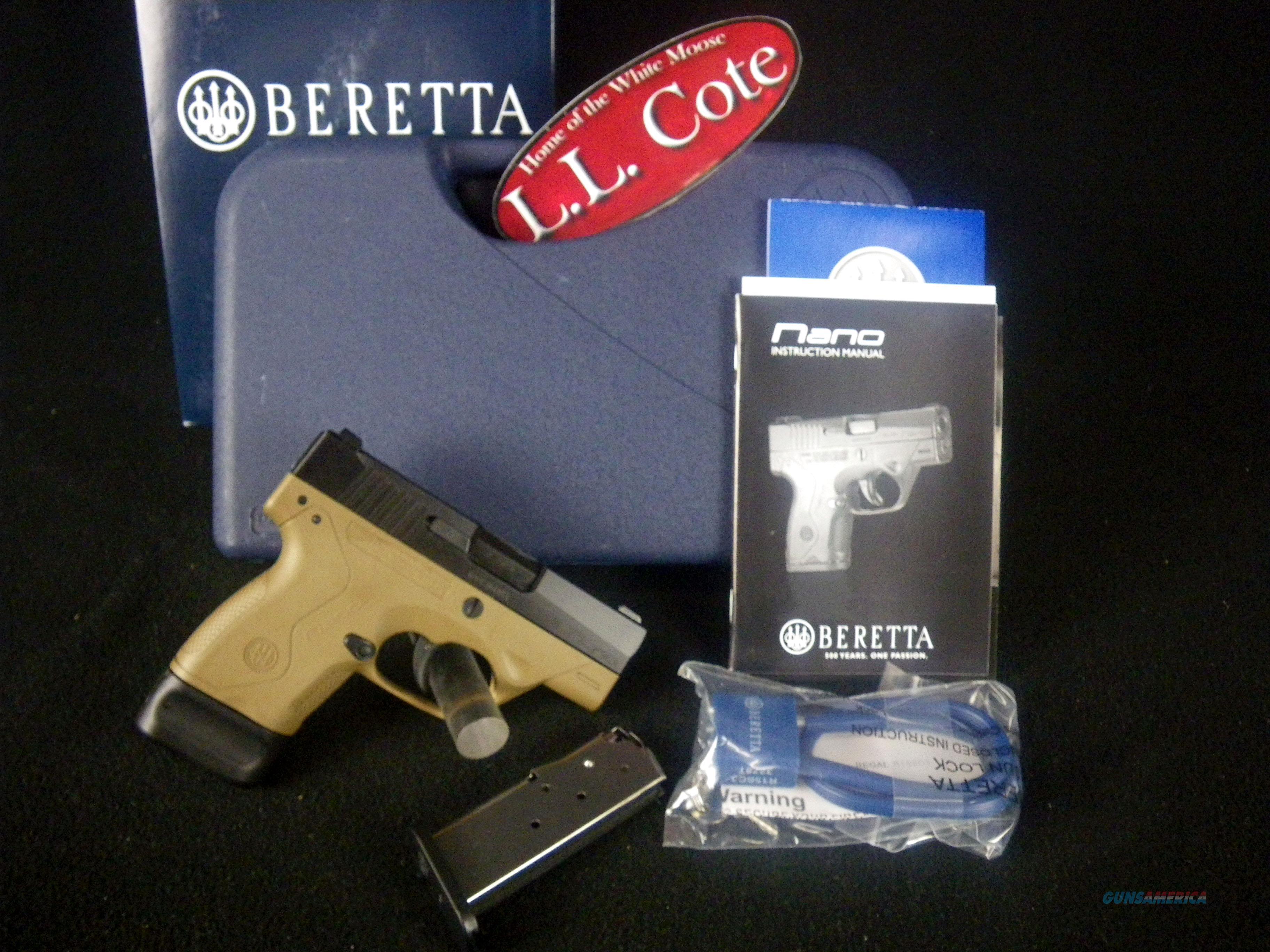 """Beretta BU-9 Nano FDE/Blued 9mm 3"""" NEW JMN9S55  Guns > Pistols > Beretta Pistols > M9"""
