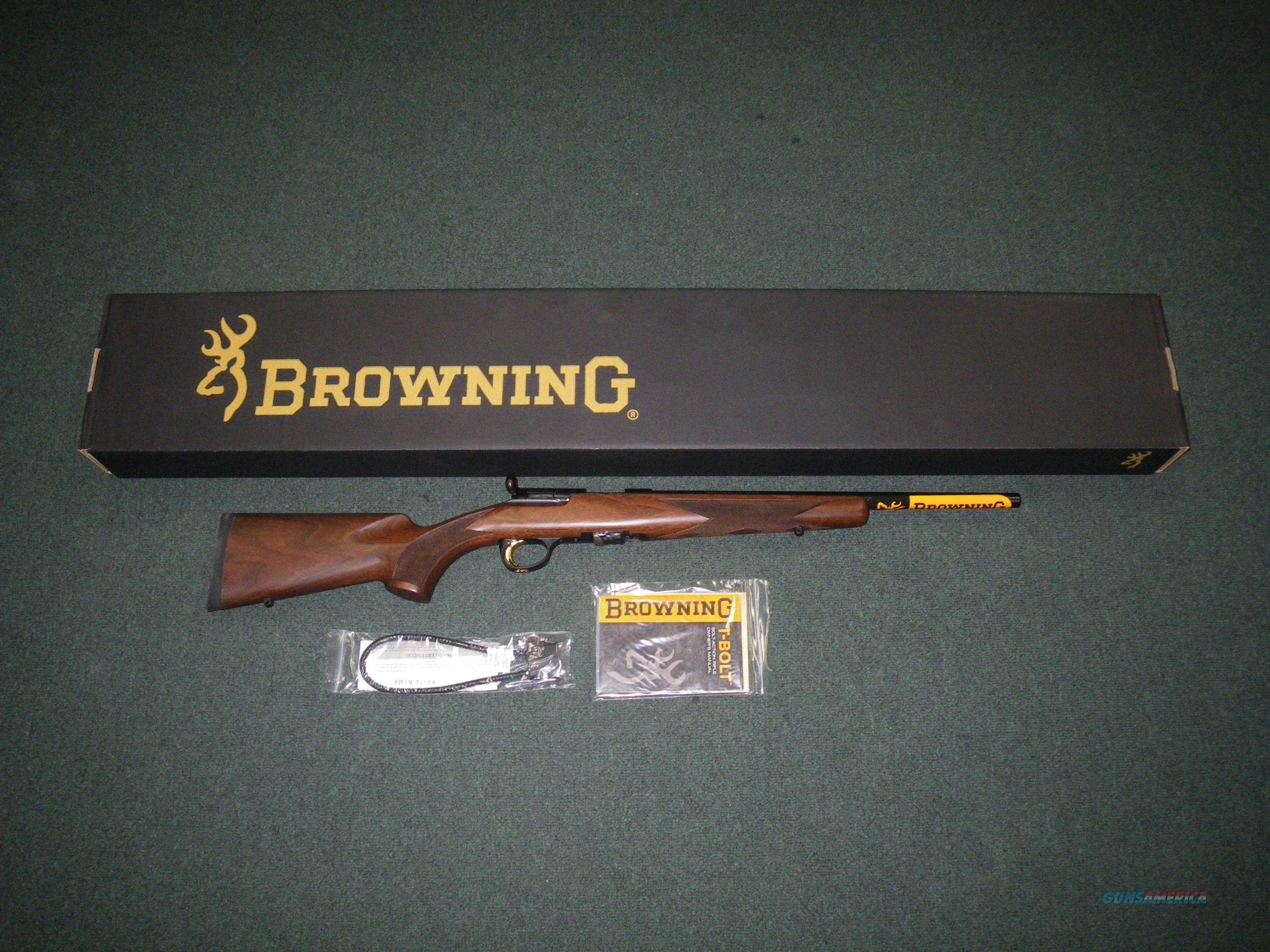"Browning T-Bolt Micro Midas Wood 22lr 16.25"" NEW 025217202  Guns > Rifles > Browning Rifles > Bolt Action > Hunting > Blue"