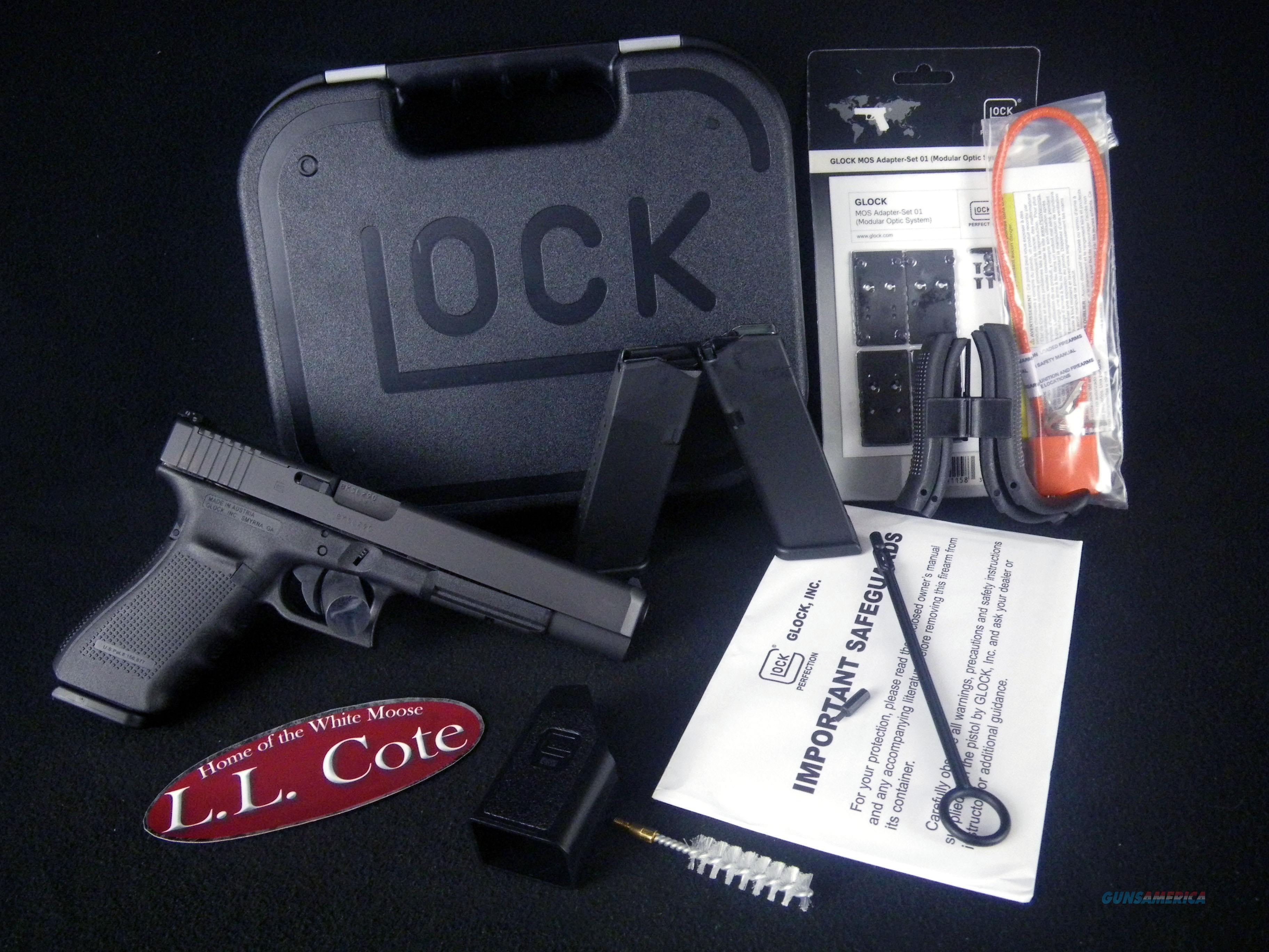 """Glock 40 Gen 4 10mm MOS 6"""" Black NEW PG4030103MOS  Guns > Pistols > Glock Pistols > 40"""