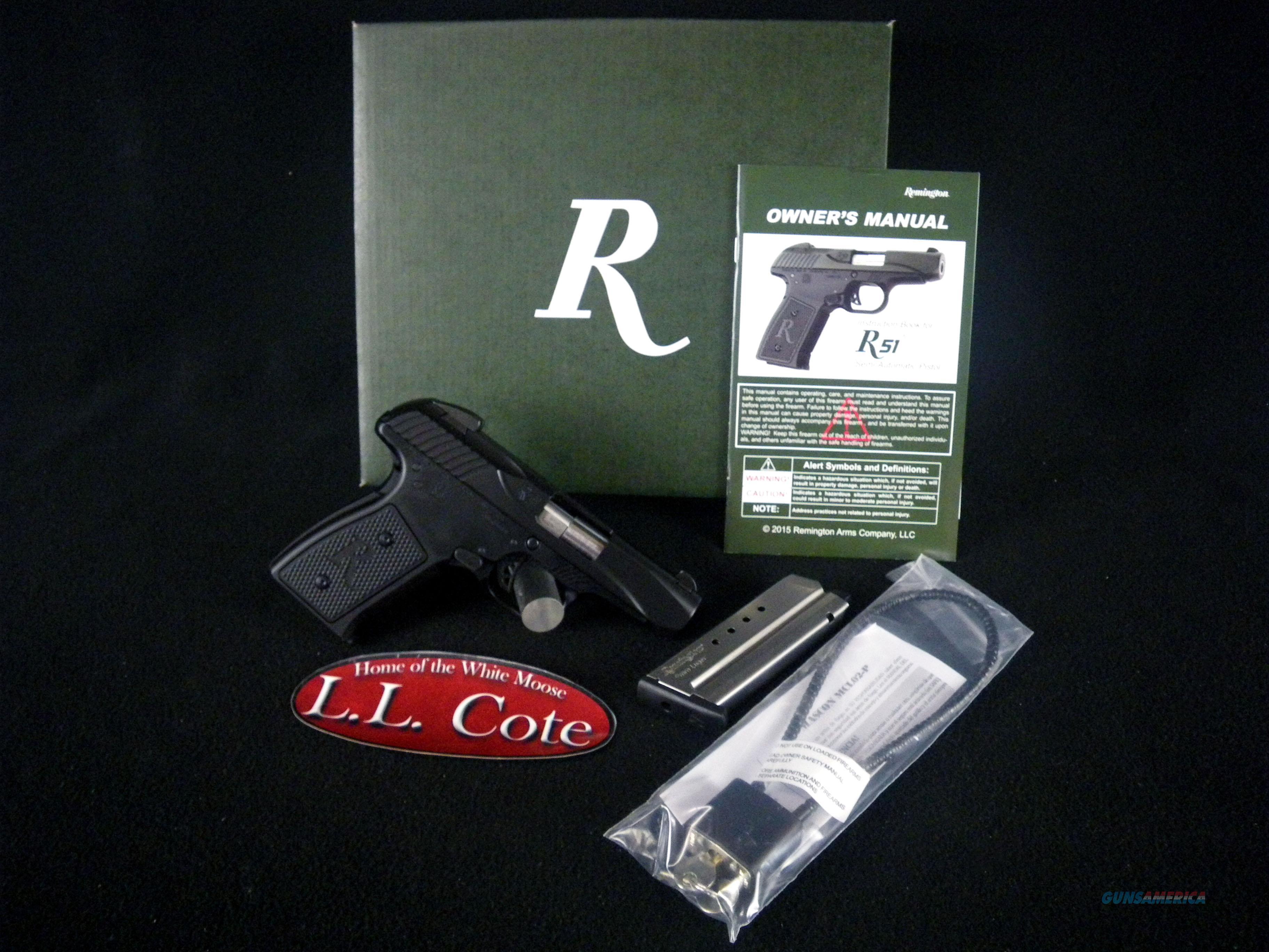 "Remington R51 Black/Synthetic 9mm 3.4"" NEW 96430  Guns > Pistols > Remington Pistols - Modern > R51"