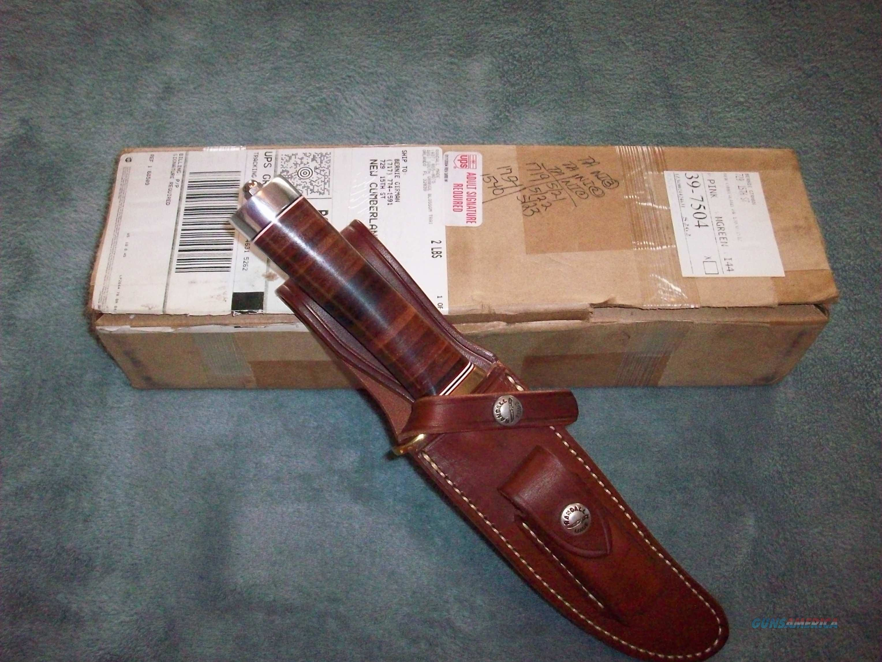 "RANDALL MADE 6"" HUNTER FIXED BLADE KNIFE NEW IN BOX  Non-Guns > Knives/Swords > Knives > Fixed Blade > Hand Made"
