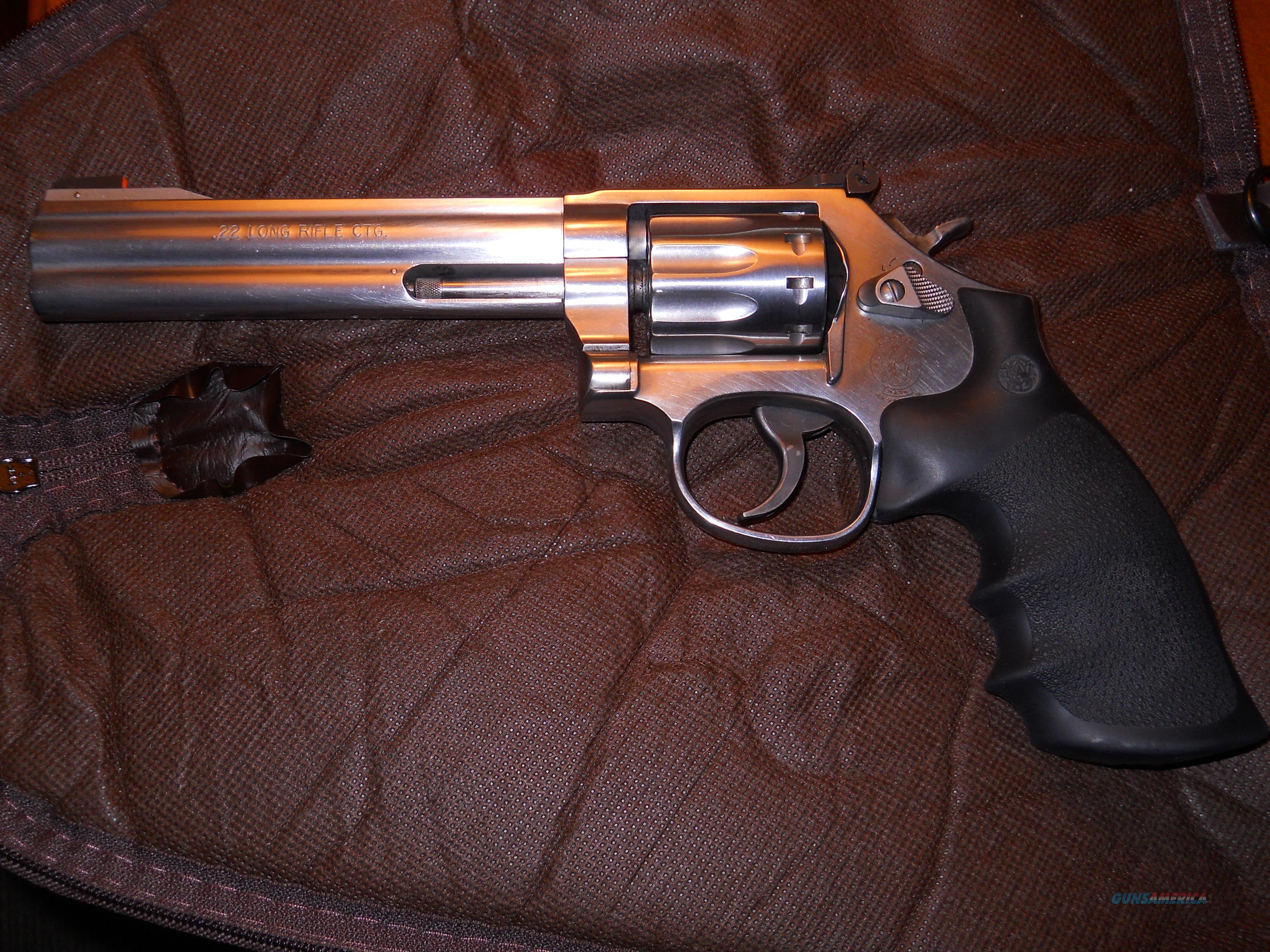 "Smith & Wesson 617 10 shot .22 LR 6"" Stainless  Guns > Pistols > Smith & Wesson Revolvers > Med. Frame ( K/L )"