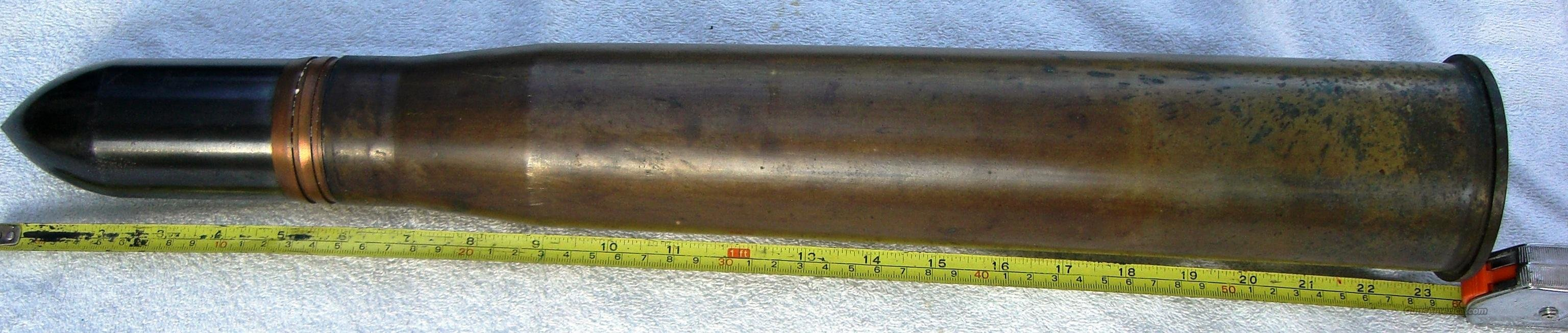 US WWII 57mm Antitank Shell Complete  Non-Guns > Military > De-Milled Weapons
