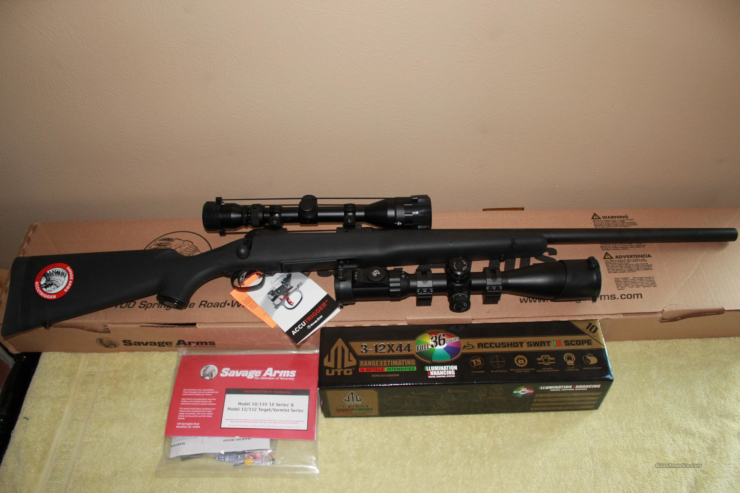 Savage Model 11 V/T .308 With 2 Scopes  Guns > Rifles > Savage Rifles > Accutrigger Models > Tactical