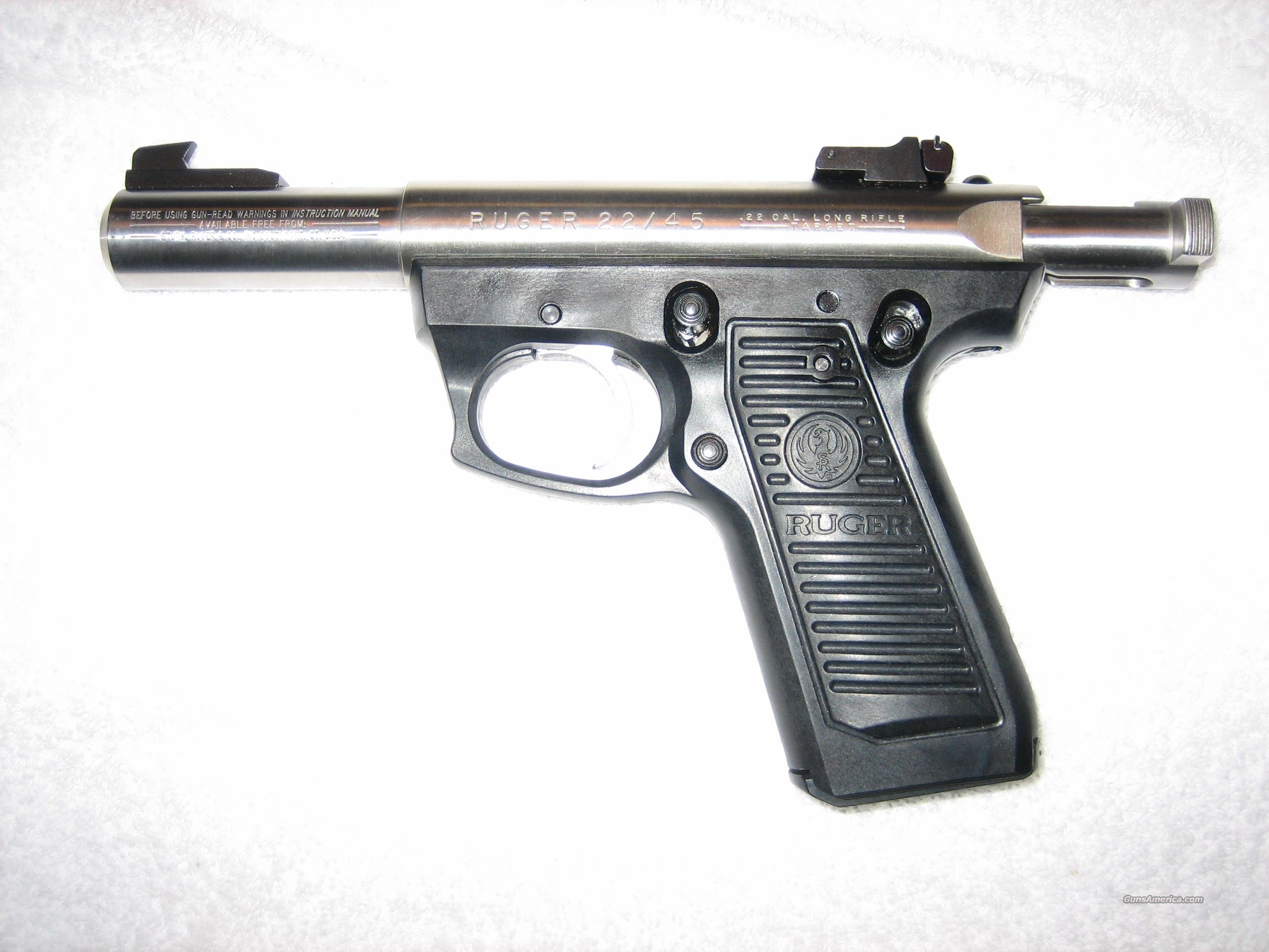 Ruger 22/45 Stainless  Guns > Pistols > Ruger Semi-Auto Pistols > Full Frame Autos