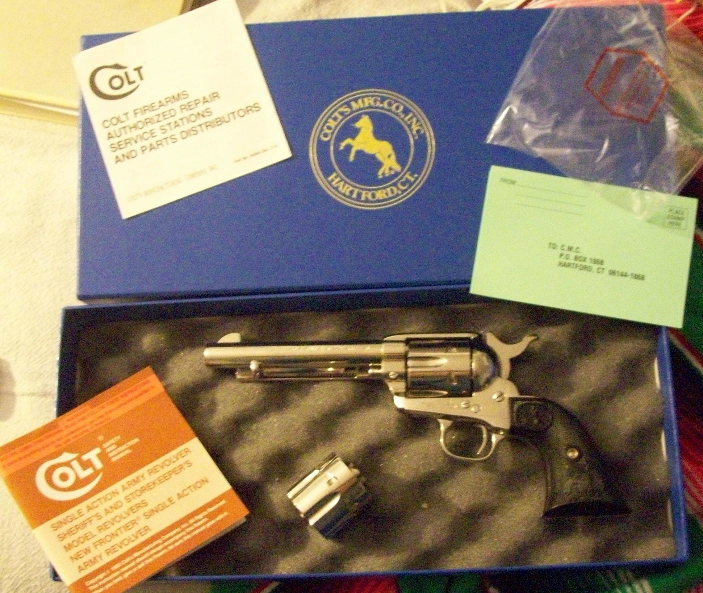 Unusual Colt SAA in both 45 ACP & 45 Colt.  Save $$$s Cowboys!  Guns > Pistols > Colt Single Action Revolvers - 3rd Gen.