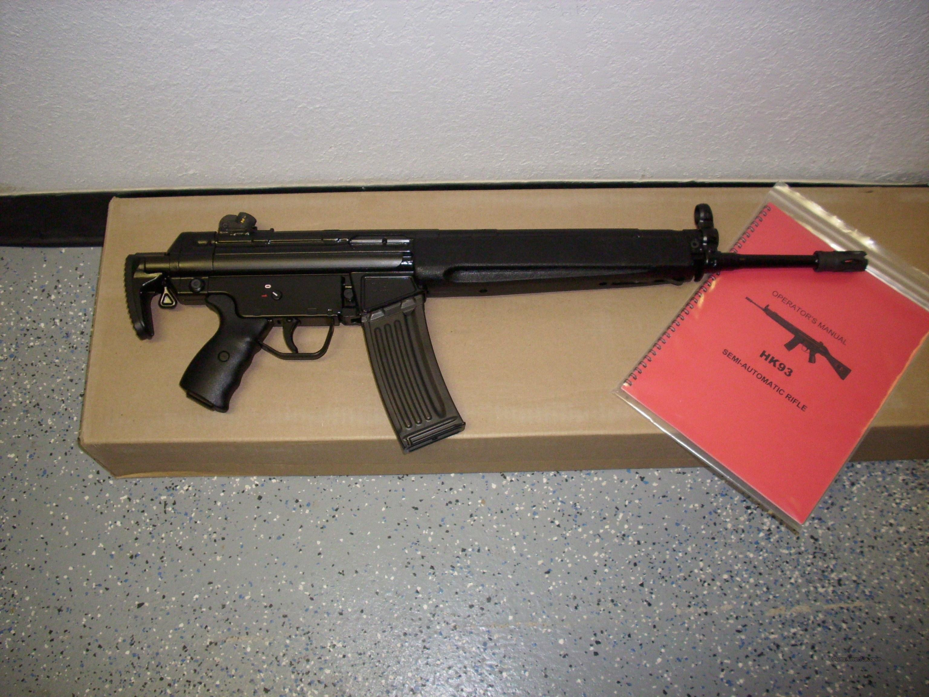 Heckler & Koch model HK93 A3 rifle in caliber 5.56/223  Guns > Rifles > Heckler & Koch Rifles > Tactical