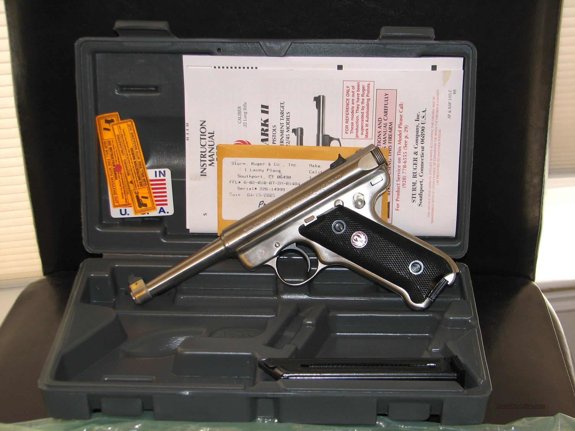 Ruger Mark II Stainless Steel  Guns > Pistols > Ruger Semi-Auto Pistols > Mark II Family
