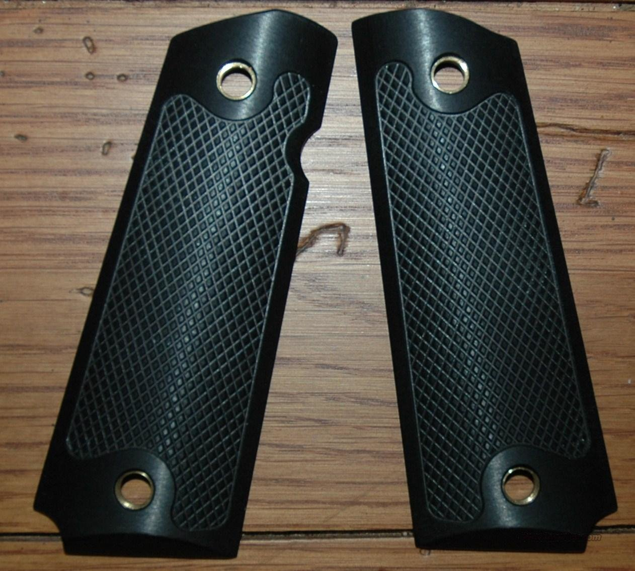 Alumagrip black checkered full size 1911  Non-Guns > Gunstocks, Grips & Wood