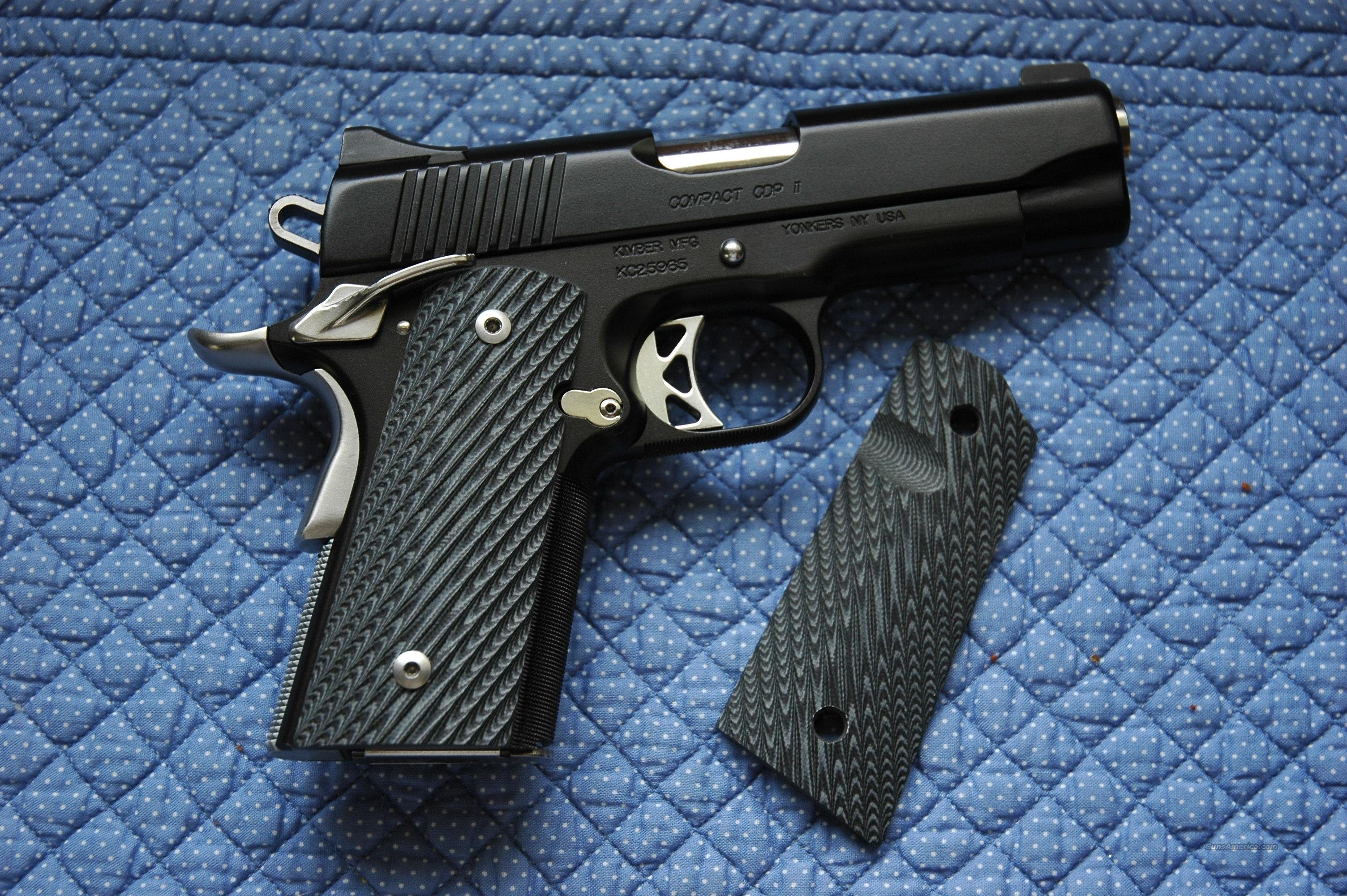 Mil-Tac G10 blackgraygrips 1911 compact  Non-Guns > Gunstocks, Grips & Wood
