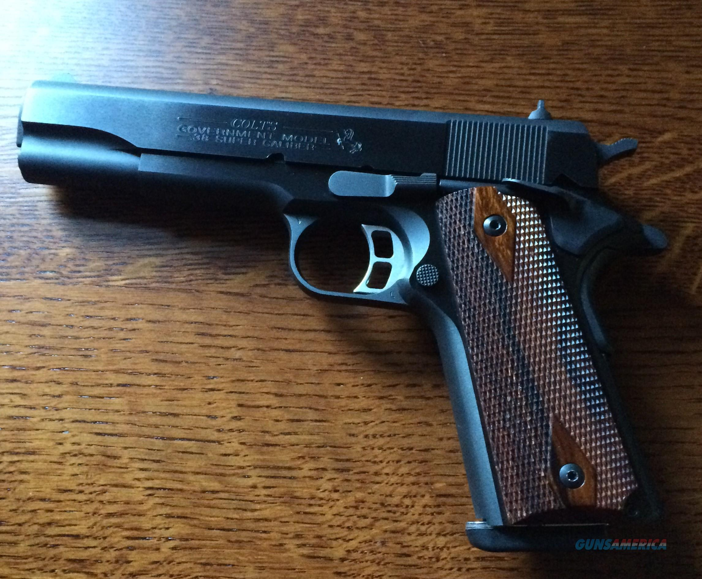 Colt Government series 80 model O blue 38 super  Guns > Pistols > Colt Automatic Pistols (1911 & Var)