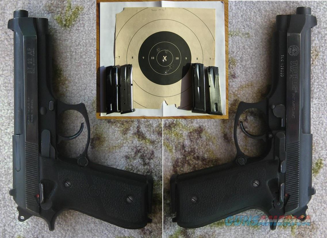 TAURUS PT92AF PT92 9MM SEMI AUTO PISTOL  Guns > Pistols > Taurus Pistols > Semi Auto Pistols > Steel Frame