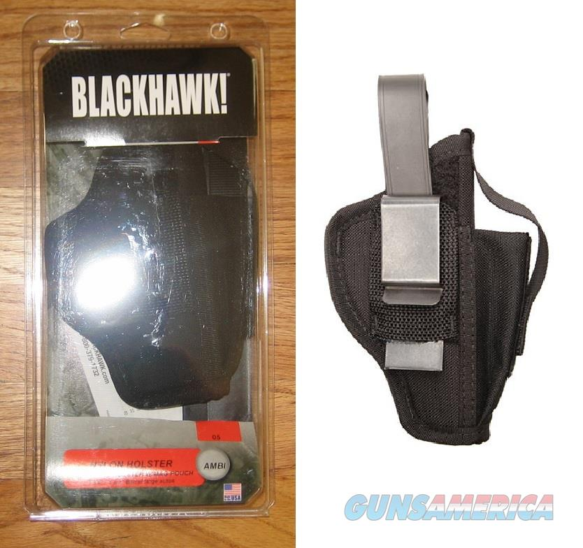 BLACKHAWK CORDURA NYLON AMBIDEXTROUS MULTI-USE HOLSTER 40AM05BK NEW  Non-Guns > Holsters and Gunleather > Large Frame Auto