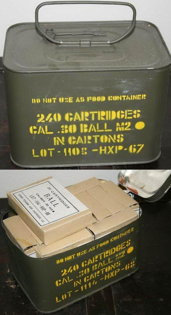 240 rounds surplus Greek M2 Ball .30-06 in spam can  Non-Guns > Ammunition