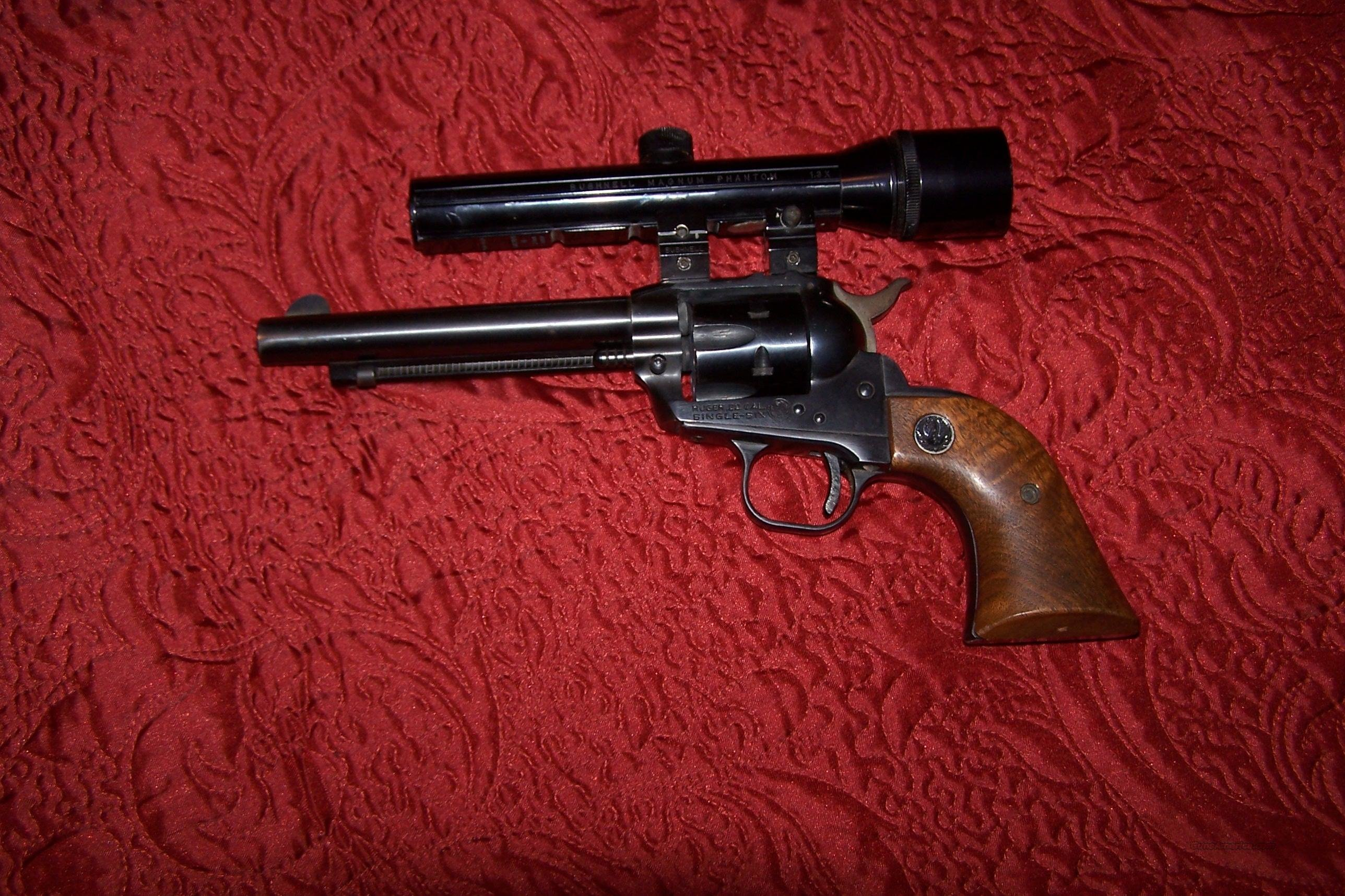 "RUGER Old Model Single Six Hunter 3-Screw .22 LR  5 1/2"" BARREL  Guns > Pistols > Ruger Single Action Revolvers > Single Six Type"