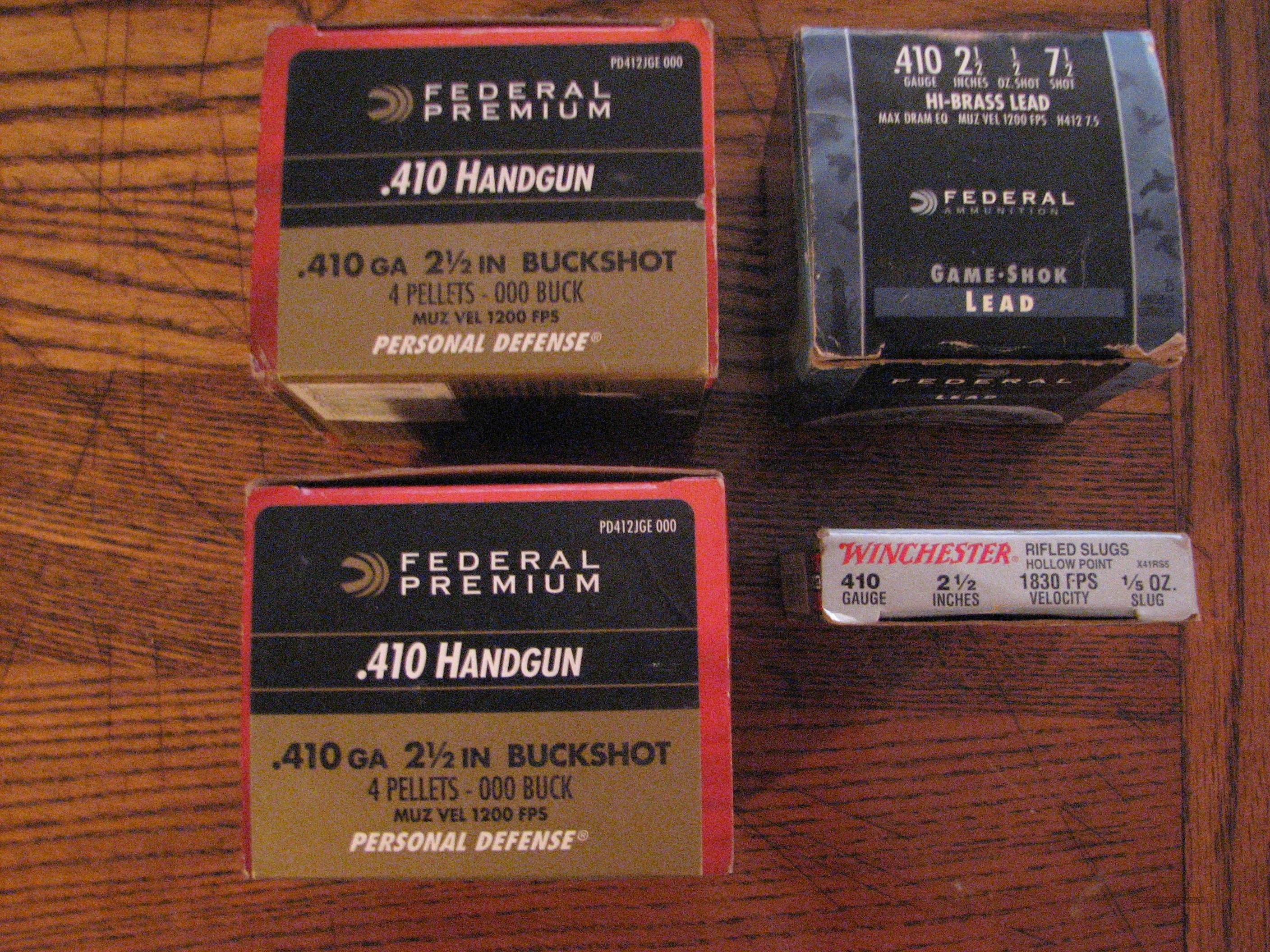 Federal premium .410 Handgun ammo 000 Buck   Non-Guns > Ammunition