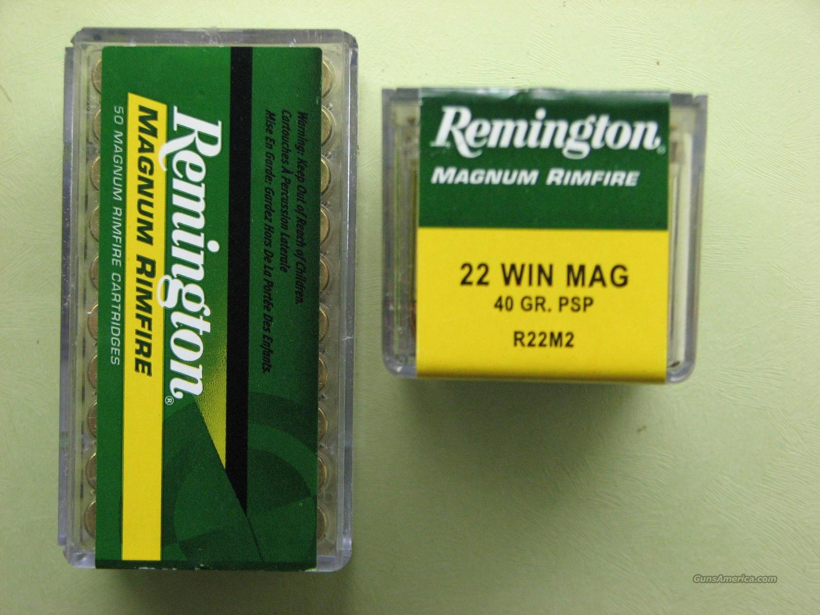 Remington 22 Mag 40 Grn PSP  Non-Guns > Ammunition