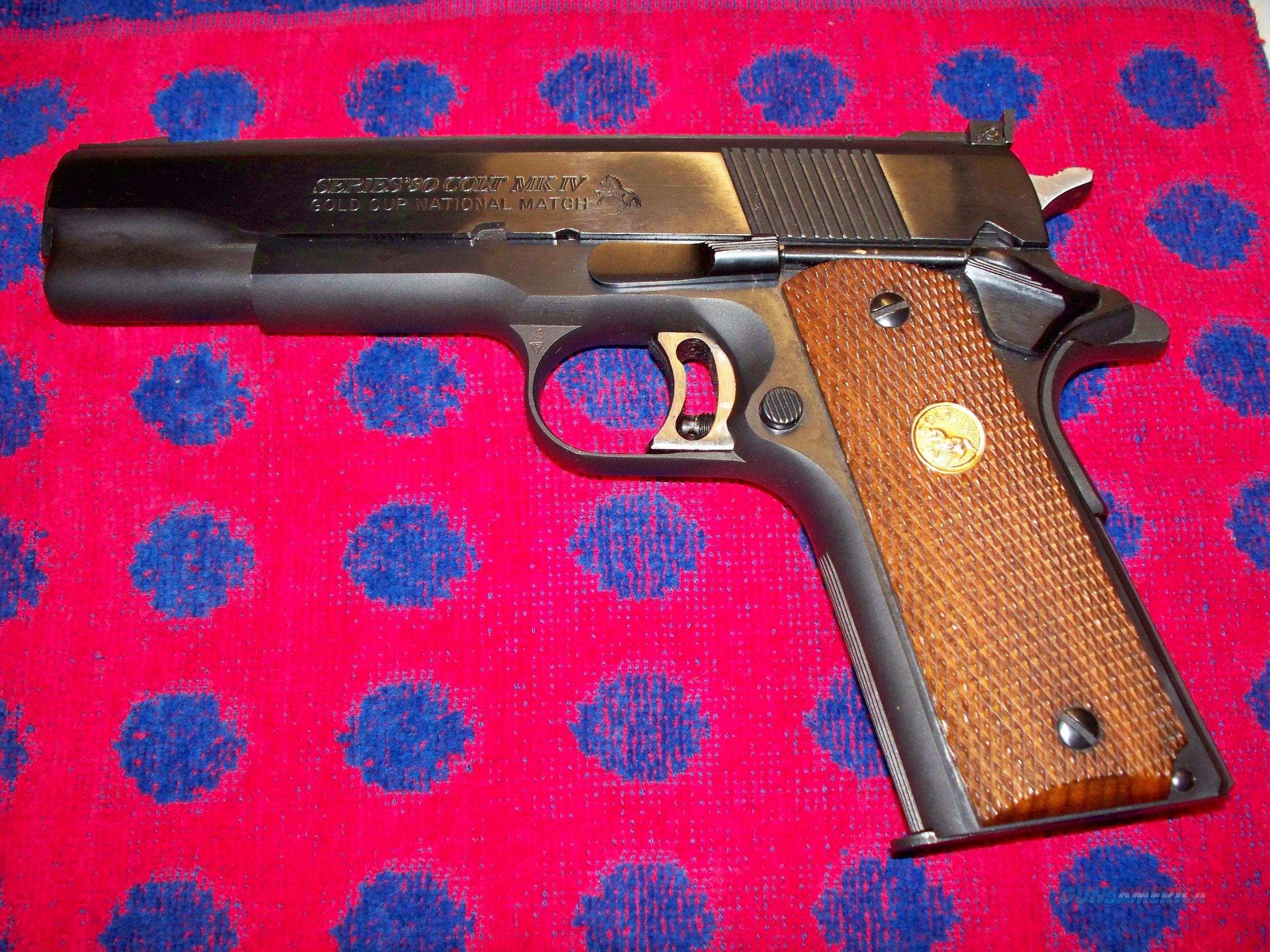 SERIES'80 COLT MARK IV GOLD CUP NATIONAL MATCH  Guns > Pistols > Colt Automatic Pistols (1911 & Var)