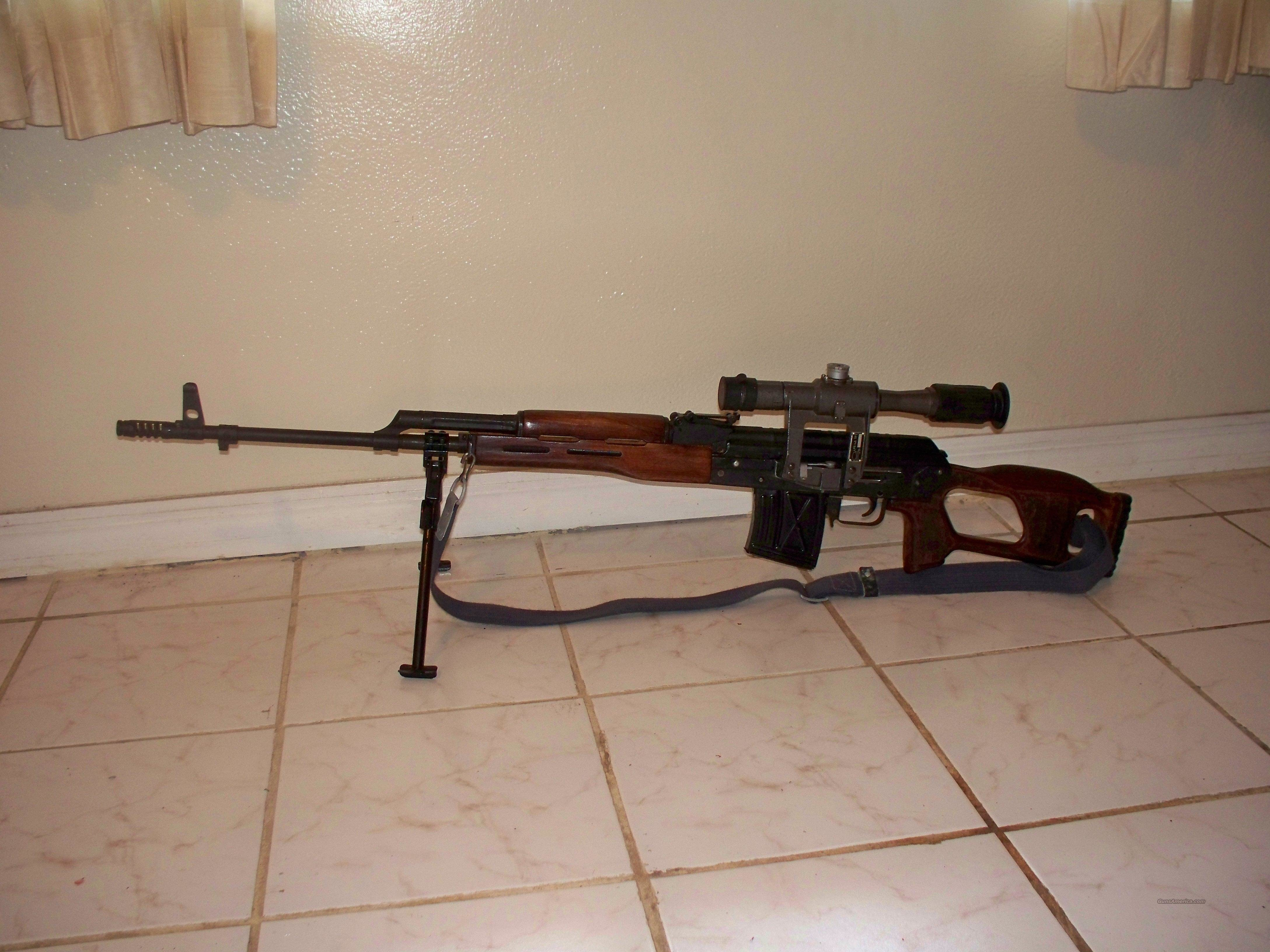DRAGUNOV.762X54R.SNIPER RIFLE TG KNOX  Guns > Rifles > AK-47 Rifles (and copies) > Full Stock