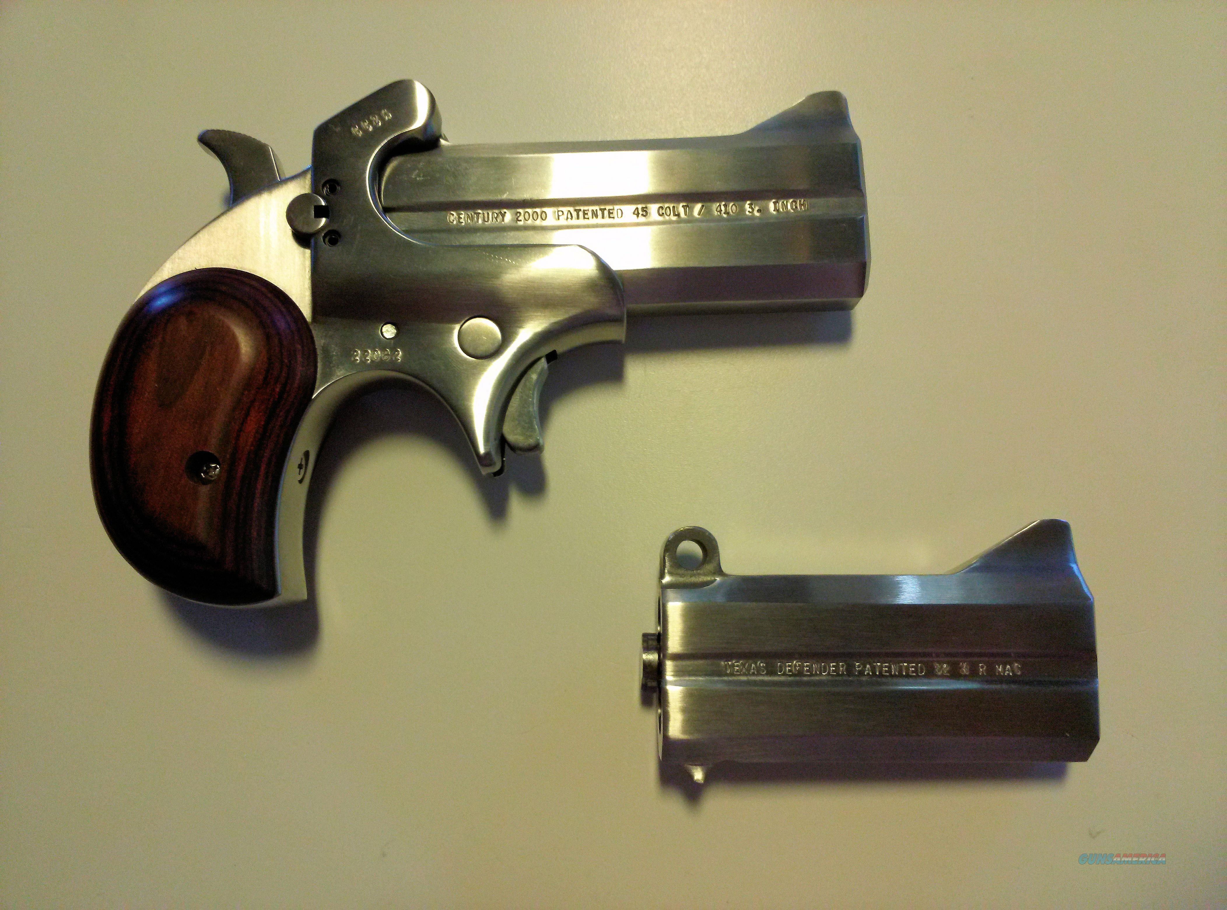 Bond Arms, inc. Cowboy Century 2000 Derringer , 45LC / .410 shotgun  Guns > Pistols > Bond Derringers