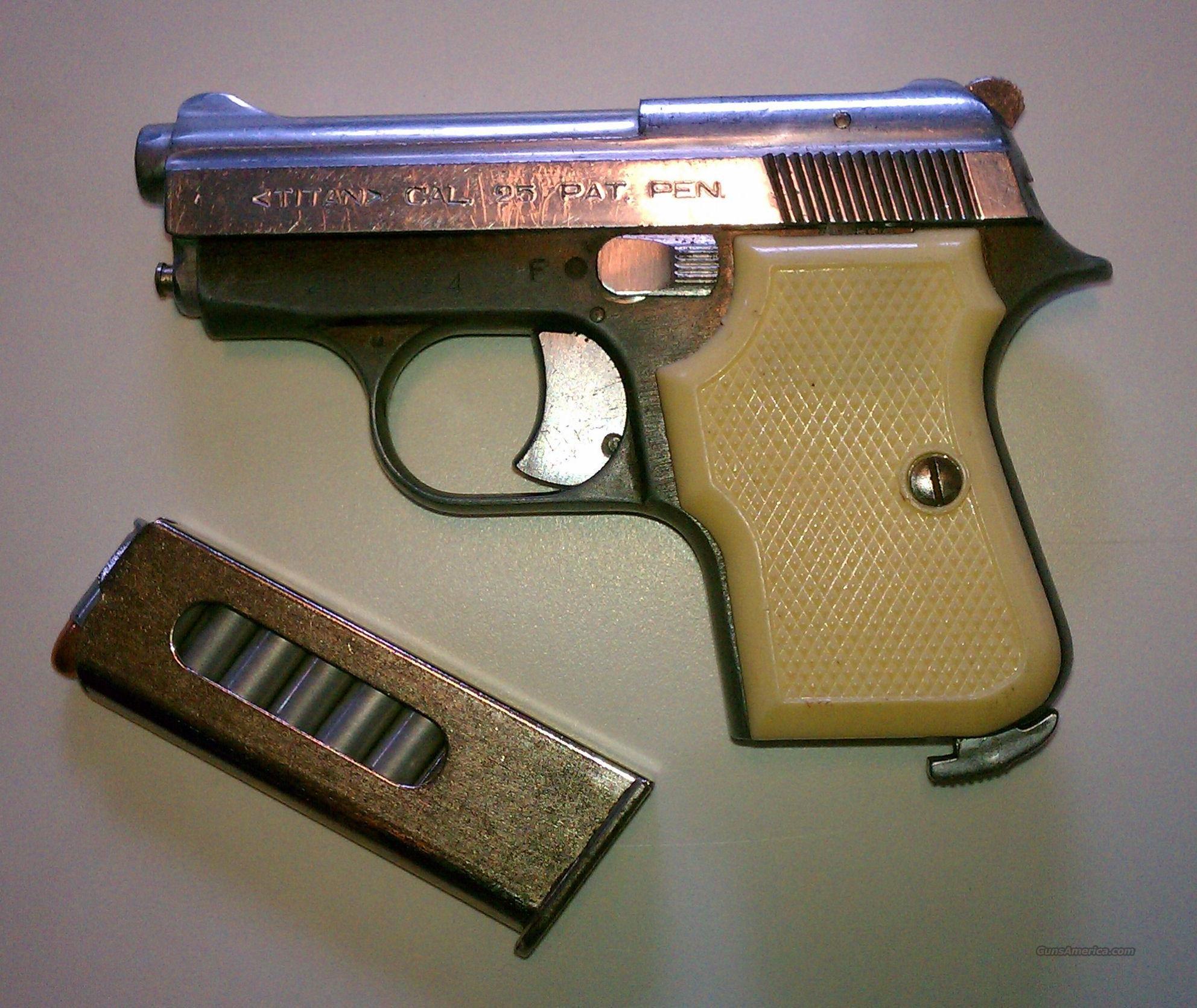 Fie Titan 25 Caliber Pistol For Sale