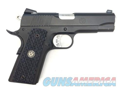 "RUGER SR1911 NIGHT WATCHMAN 45 ACP, TALO EXCLUSIVE, 4.25"", 8+1, 6708, BLACK NITRIDE FRAME/SLIDE  Guns > Pistols > Ruger Semi-Auto Pistols > SR9 & SR40"