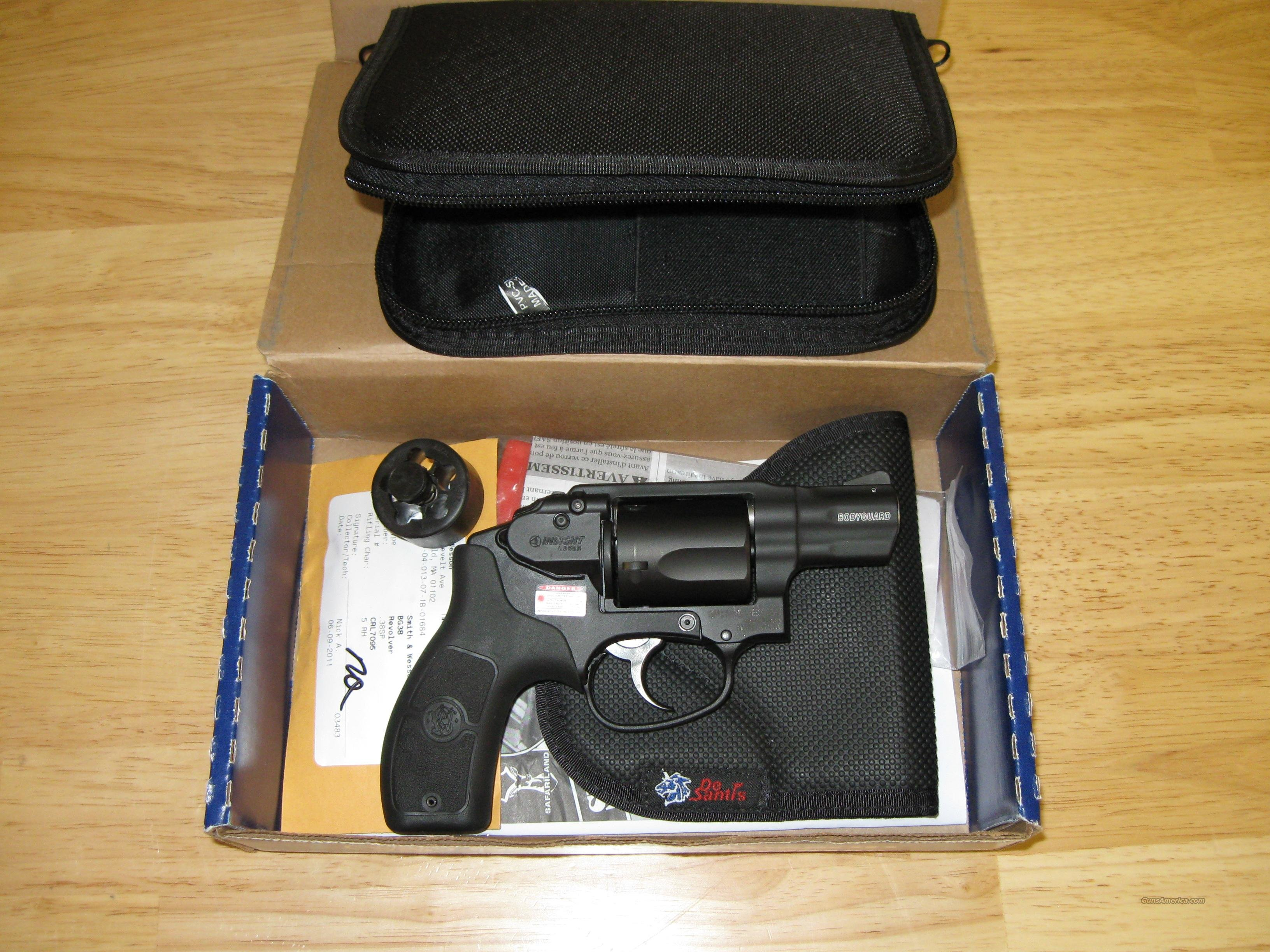 Smith & Wesson Bodyguard Revolver with laser, 38Sp, 5 Rd  Guns > Pistols > Smith & Wesson Revolvers > Pocket Pistols