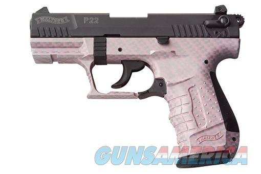 Walther P22 DA/SA Pistol 5120319, 22 Long Rifle, 3.42 in Threaded, Pink Carbon Fiber Finish, 10 Rd  Guns > Pistols > Walther Pistols > Post WWII > P22
