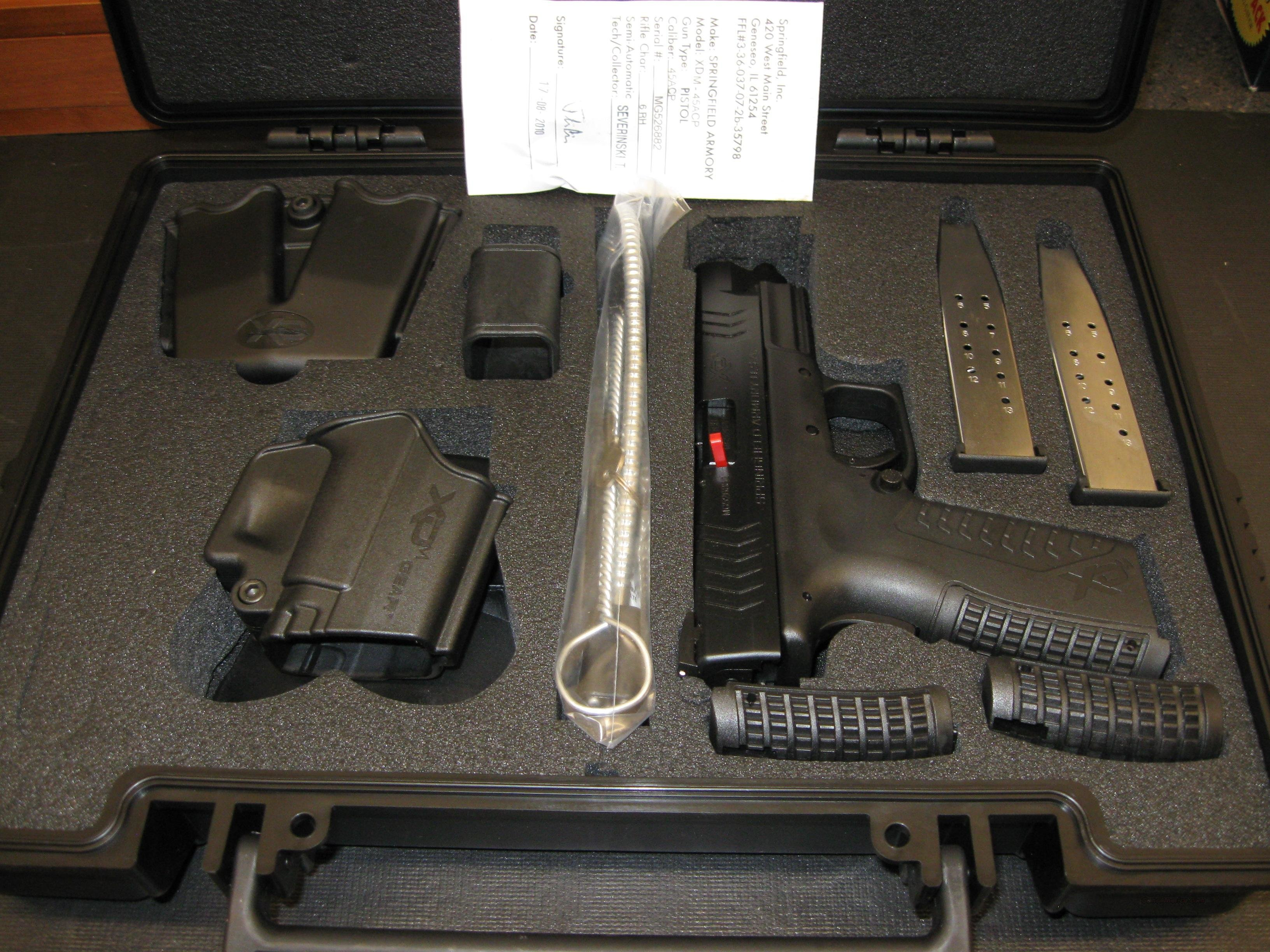 Springfield Armory XDM Pistol .45 ACP 4.5in 13RD Black XDM94545BHC   Guns > Pistols > Springfield Armory Pistols > XD (eXtreme Duty)