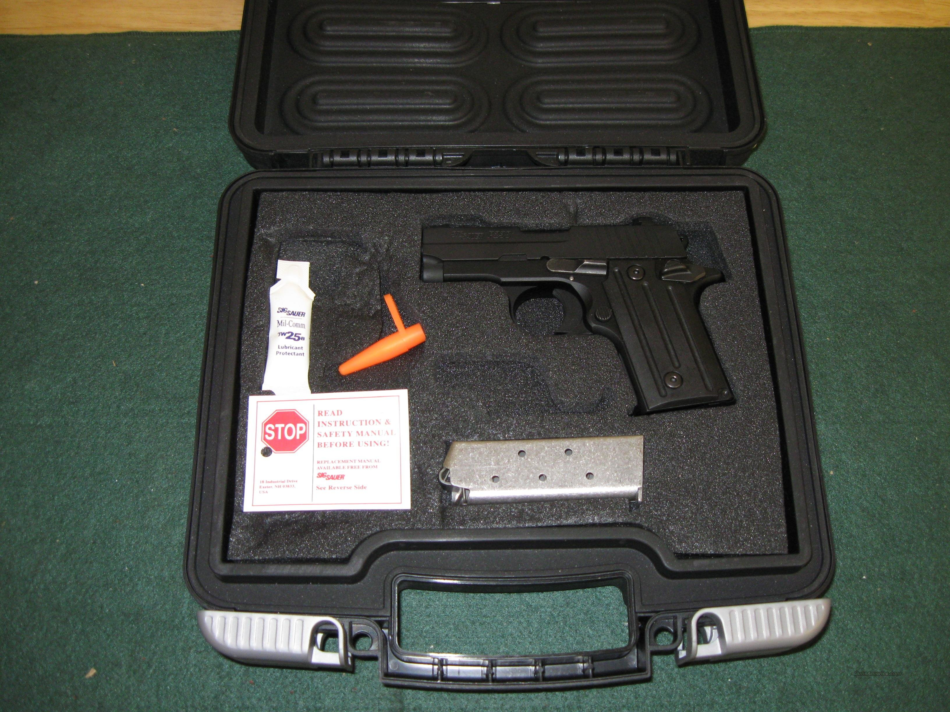 Sig Model P238 Pistol 238380B, 380 ACP, 2.7 in, Aluminum Grip, Black Finish, Fixed Sights, 6 Rd  Guns > Pistols > Sig - Sauer/Sigarms Pistols > P238