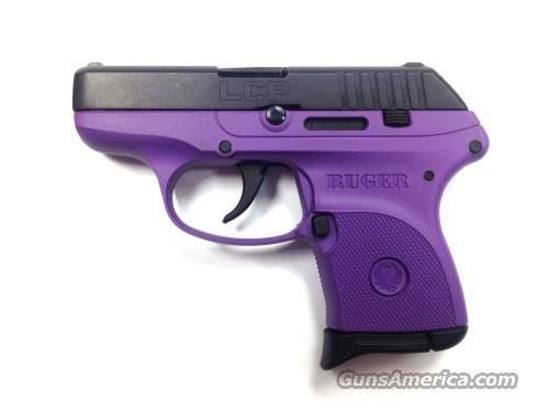 Ruger LCP LADY LILAC Pistol 3725, 380 ACP, 2.75 in, Checkered Purple Grip, Blue Finish, 6 Rd, TALO EXCLUSIVE  Guns > Pistols > Ruger Semi-Auto Pistols > LCP