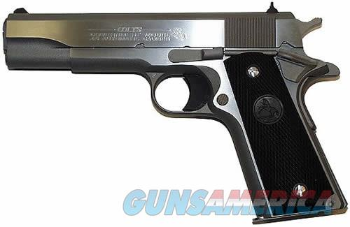 "Colt 1911 38 Super Government Pistol O2091, 38 Super Auto, 5"", Checkered Black Rubber Grip, Stainless Finish, 9 Rd  Guns > Pistols > Colt Automatic Pistols (1911 & Var)"