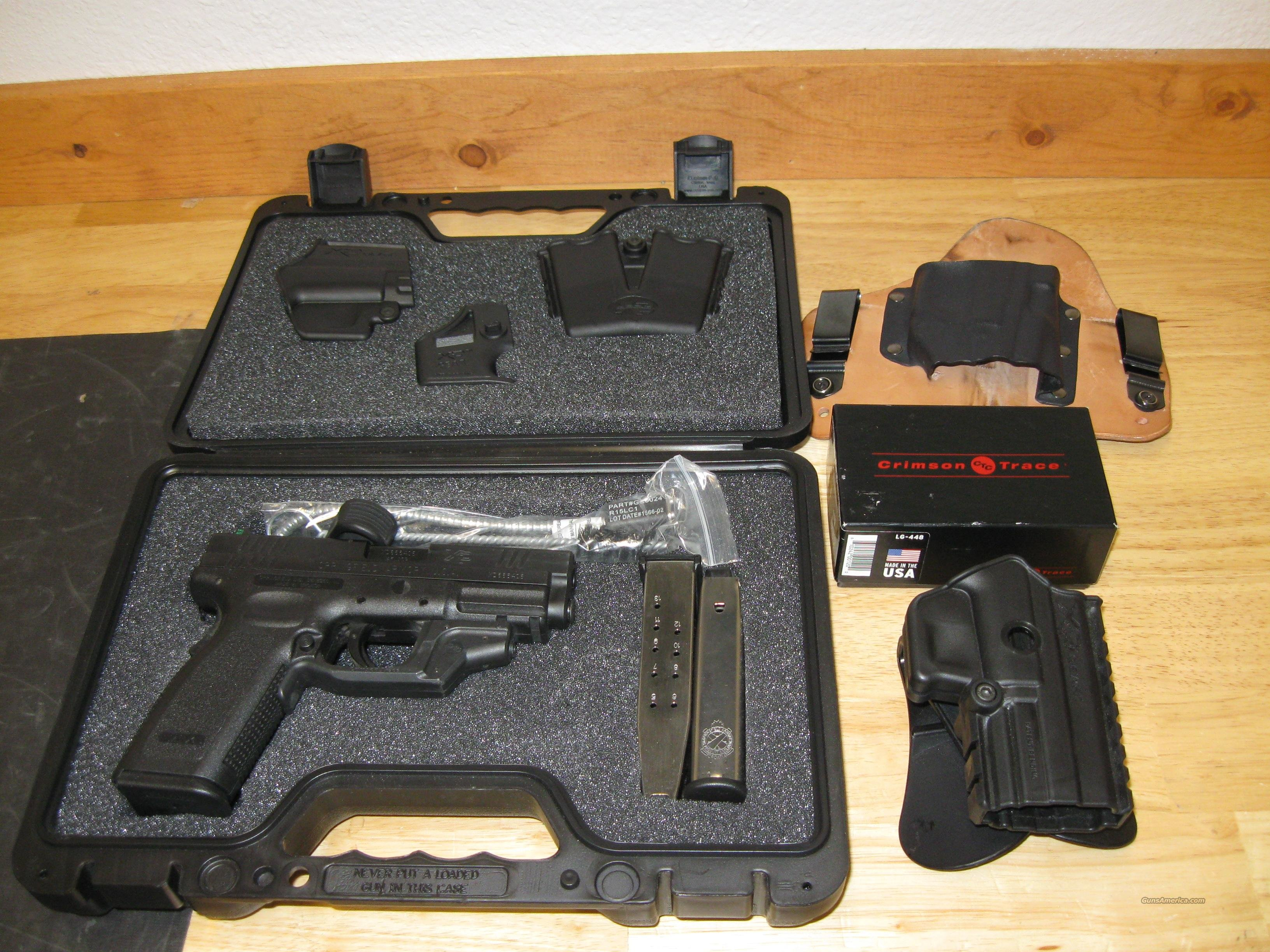 "Springfield XD Package XD9611HCSP06, 45 ACP, 4"", Checkered Polymer Grip, Black Finish, 13 Rd, Crimson Trace, Night Sights  Guns > Pistols > Springfield Armory Pistols > XD (eXtreme Duty)"