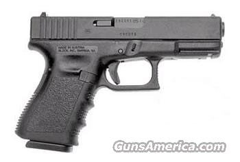 Glock 19 Gen 3 Compact Pistol PI1950203, 9mm, 4.02 in, Polymer Grip, Black Finish, Fixed Sights, 15 Rd  Guns > Pistols > Glock Pistols > 19