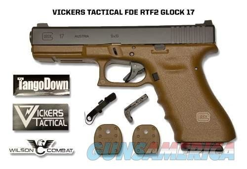 GLOCK G17RTF2 FDE VICKERS TACTICAL 9MM, 17+1, LIPSEY'S EXCLUSIVE  Guns > Pistols > Glock Pistols > 17