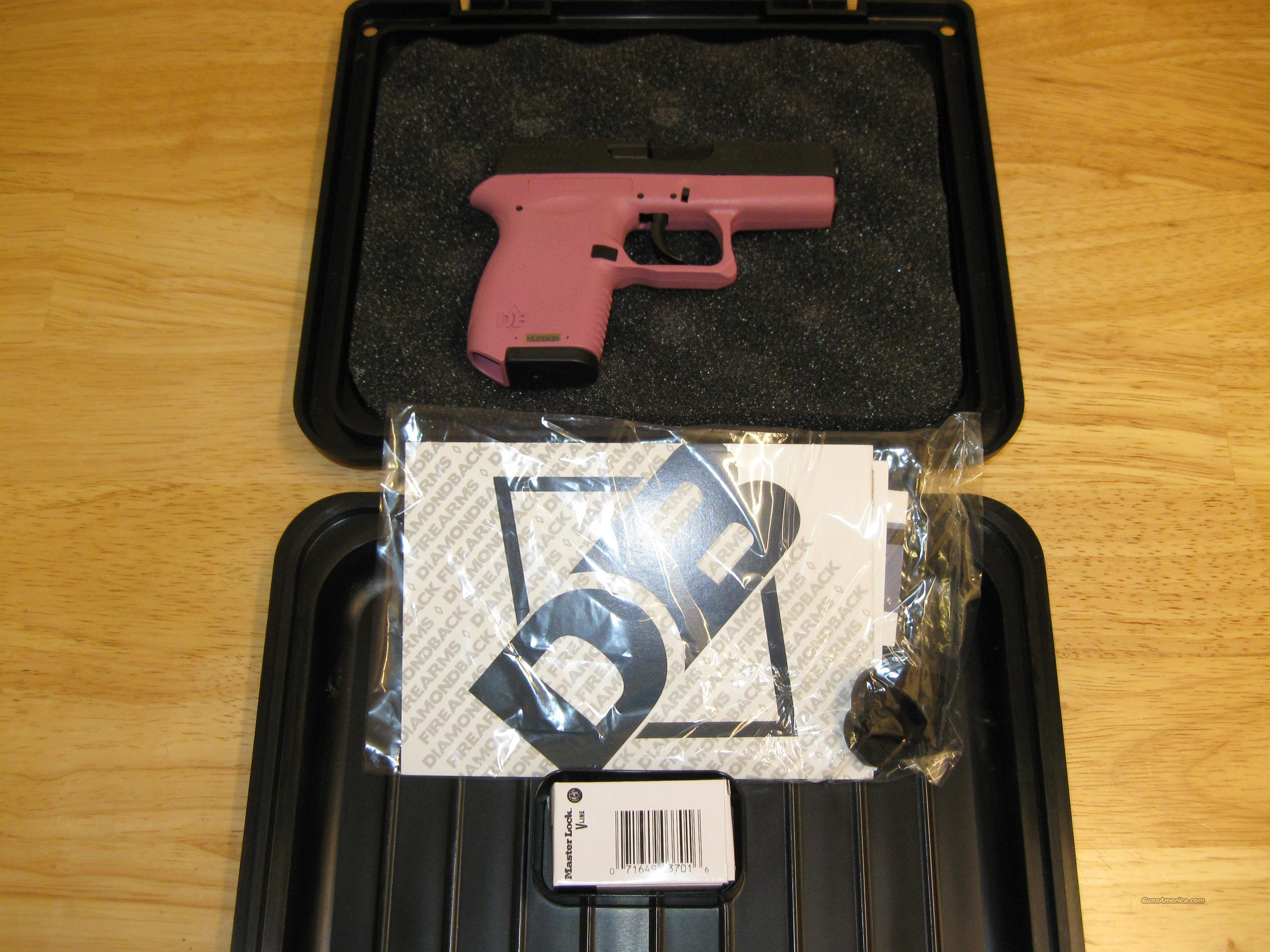 Diamondback DB380 Pistol DB380HP, 380 ACP, 2.8 in, Pink Grip, Black/Pink Finish, 6 Rd  Guns > Pistols > D Misc Pistols