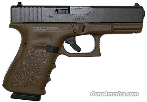 Glock 23 FDE Compact Pistol PI2350203D, 40 S&W, 4.0 in, Flat Dark Earth Grip, Gas Nitride Finish, 13 Rd  Guns > Pistols > Glock Pistols > 23