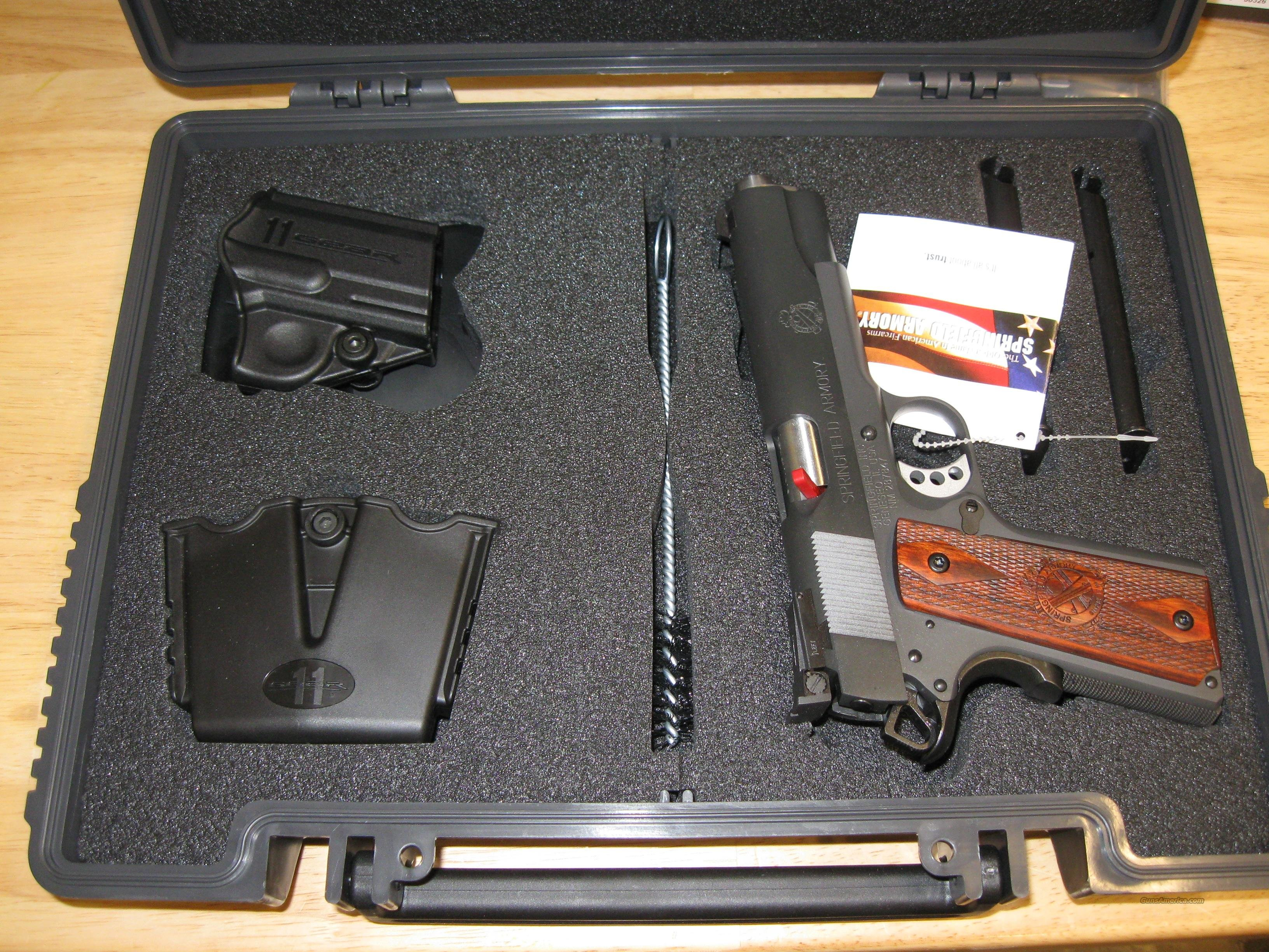 Springfield Range Officer Pistol PI9128LP, 45 ACP, 5 in, Cocobolo Wood Grip, Black Finish, 7 Rd  Guns > Pistols > Springfield Armory Pistols > 1911 Type