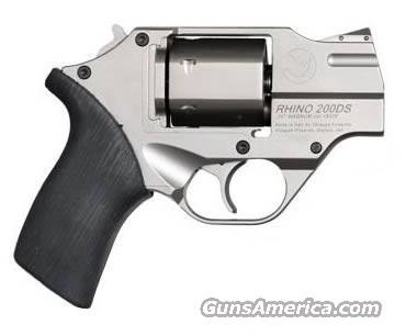 "Chiappa White Rhino 20DS Revolver 340079, 357 Magnum, 2"", Nickel Finish, Adjustable Sights, 6 Rd  Guns > Pistols > Chiappa Pistols & Revolvers > Rhino Models"