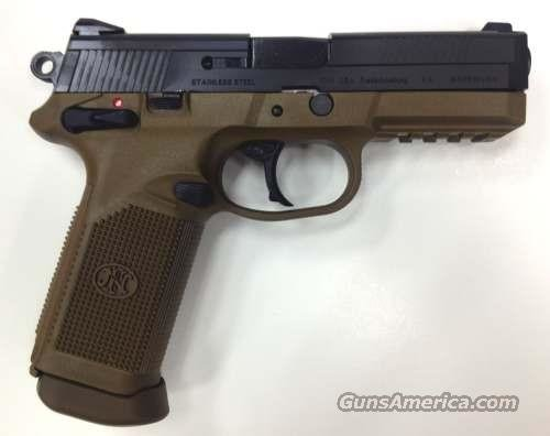 FN Herstal FNX-45 Pistol 66964, 45 ACP, 4 in, Polymer Grip, Dark Earth/Black Finish, 15 Rd  Guns > Pistols > FNH - Fabrique Nationale (FN) Pistols > FNP