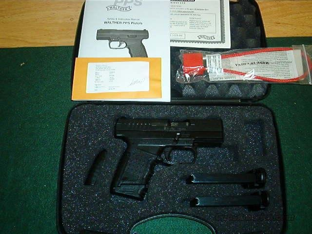 "Walther PPS USA Semi-Auto Pistol WAP10001, 9mm, 3.2"", Black Synthetic Grip, Black Finish, 6 Rd  Guns > Pistols > Walther Pistols > Post WWII > PPS"